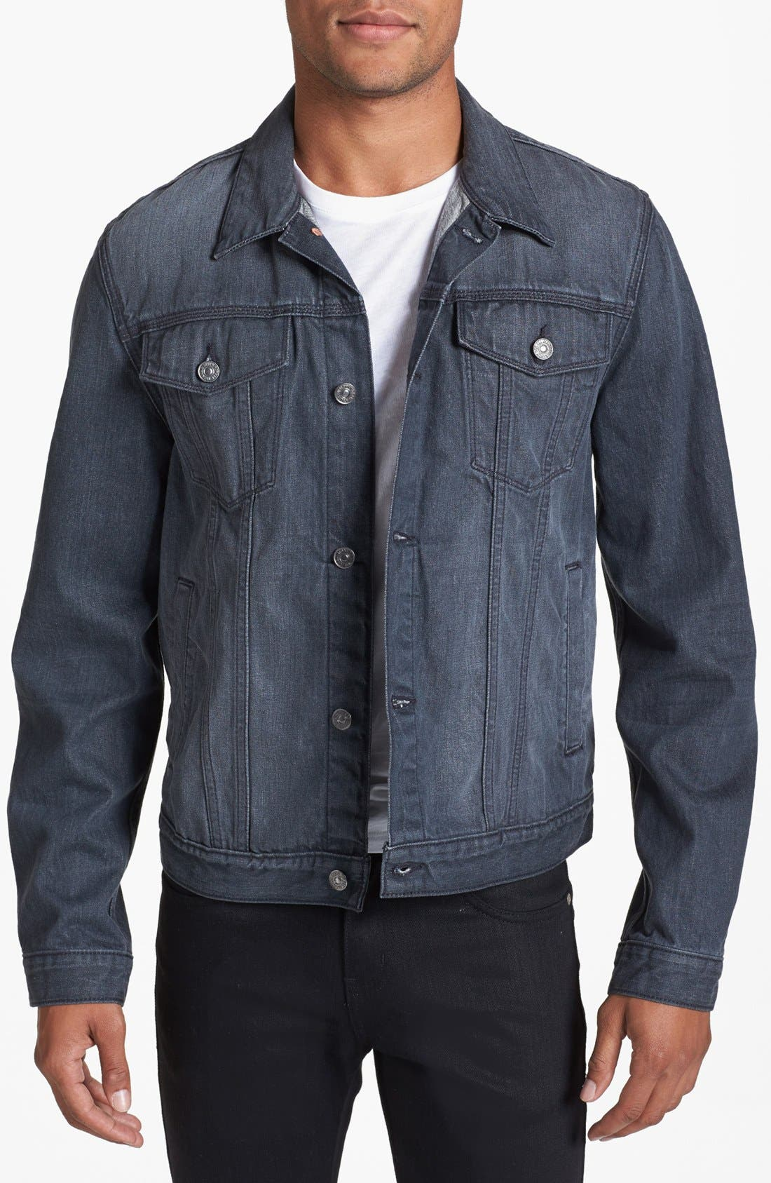 Alternate Image 1 Selected - 7 For All Mankind® Grey Denim Jacket