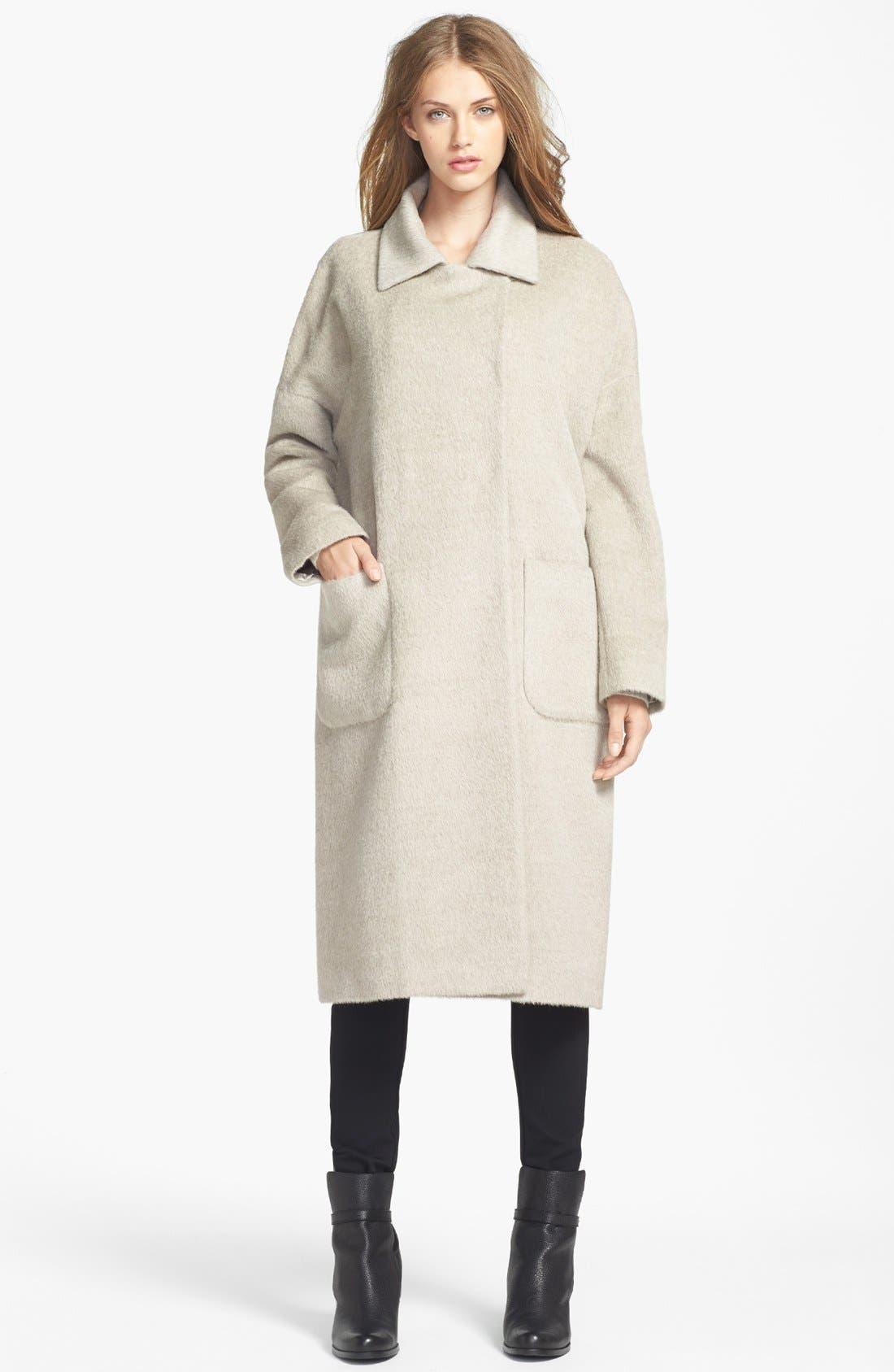 Alternate Image 1 Selected - Andean Long Oversized Alpaca Blend Coat