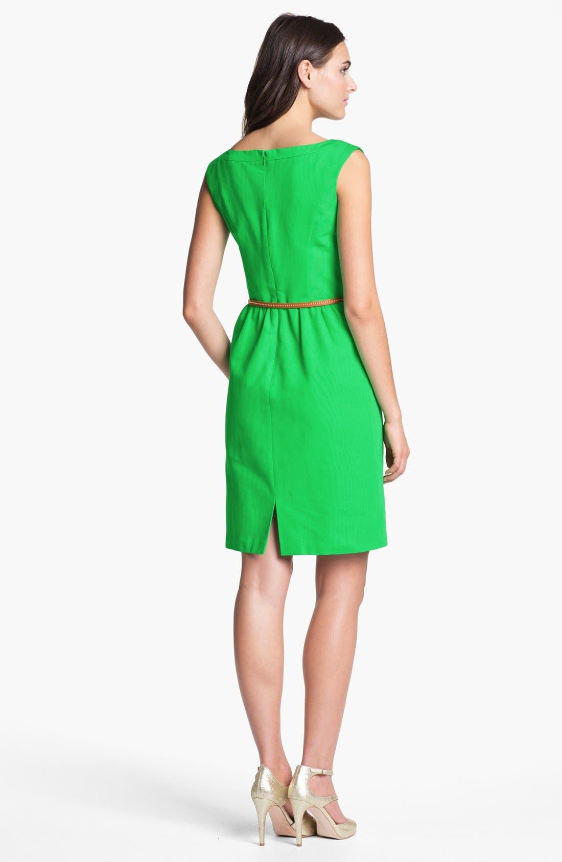 Alternate Image 2  - Ellen Tracy Cap Sleeve Sheath Dress