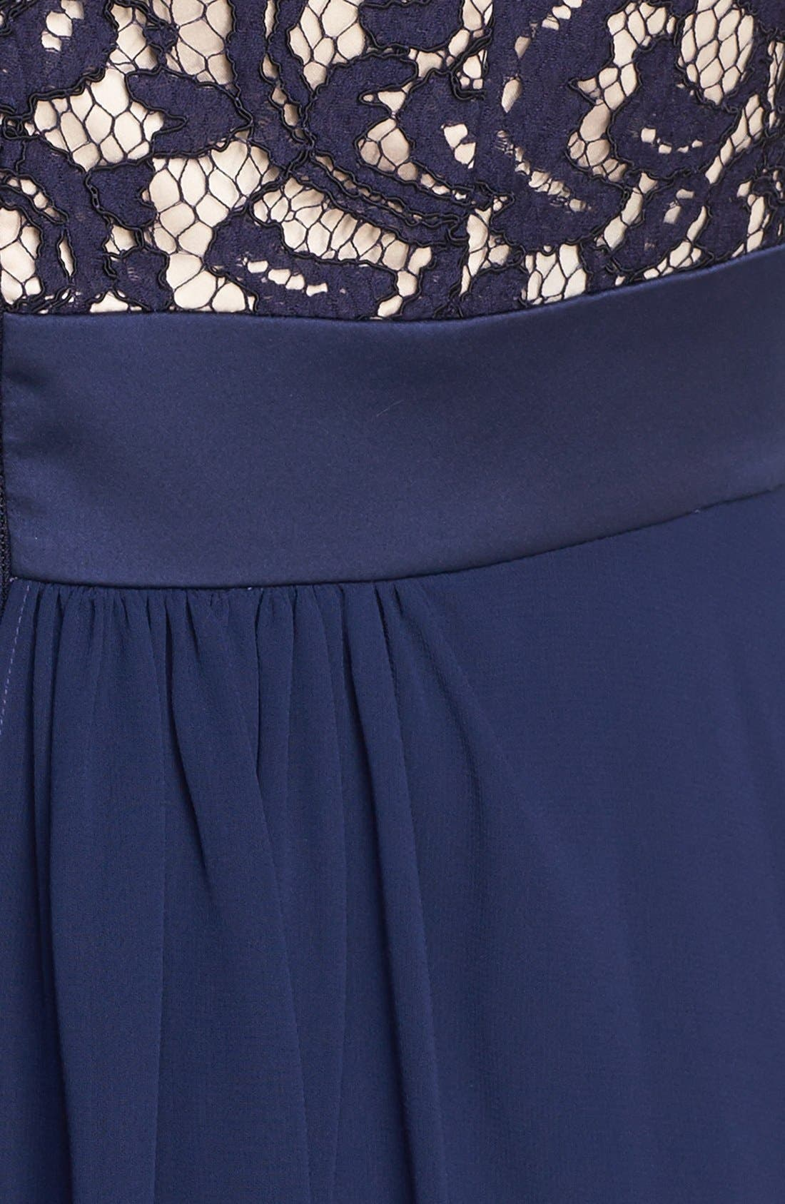 Alternate Image 3  - Eliza J Lace & Chiffon Gown