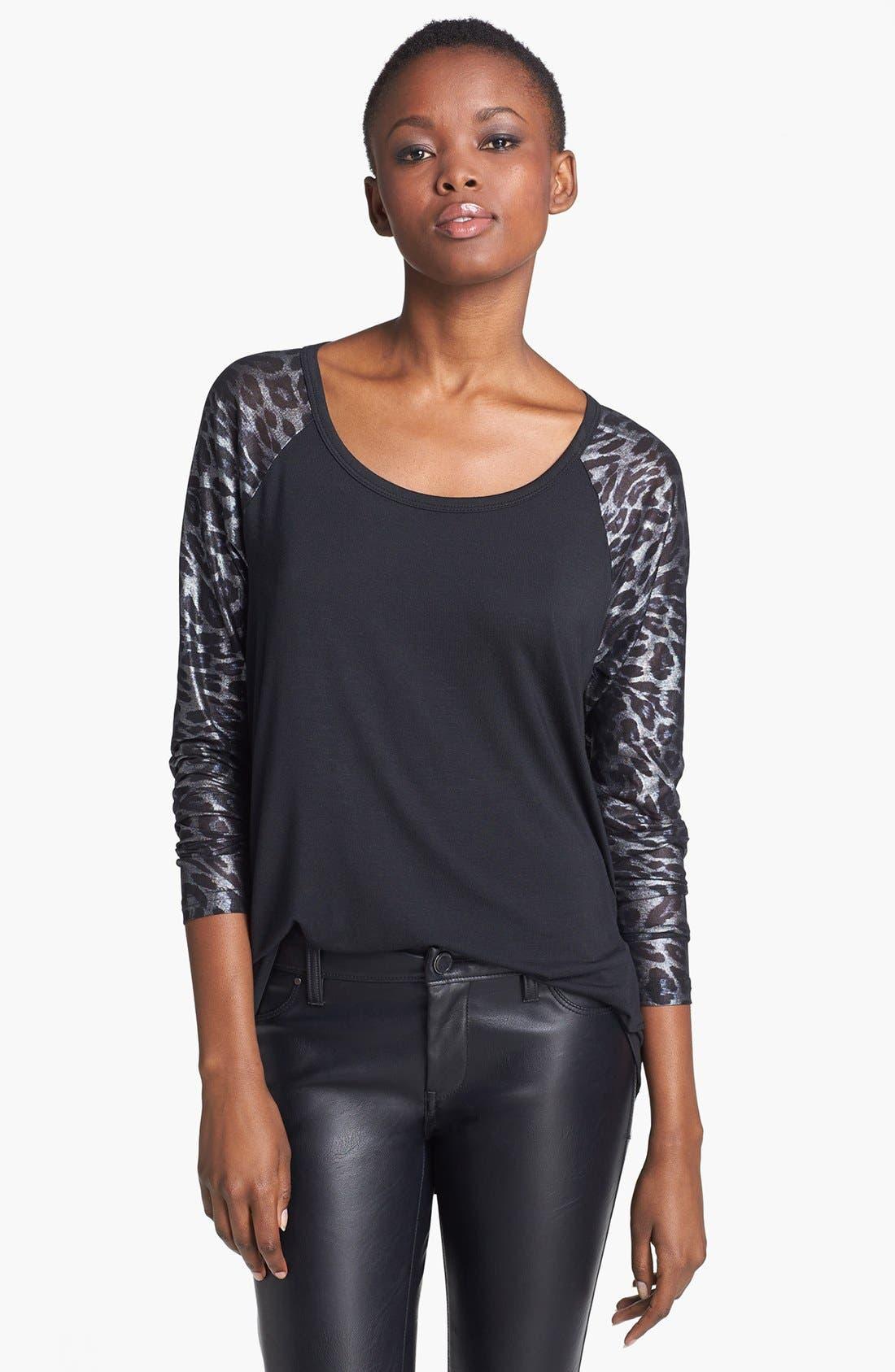Main Image - MINKPINK 'Second Skin' Print Raglan Sleeve Top