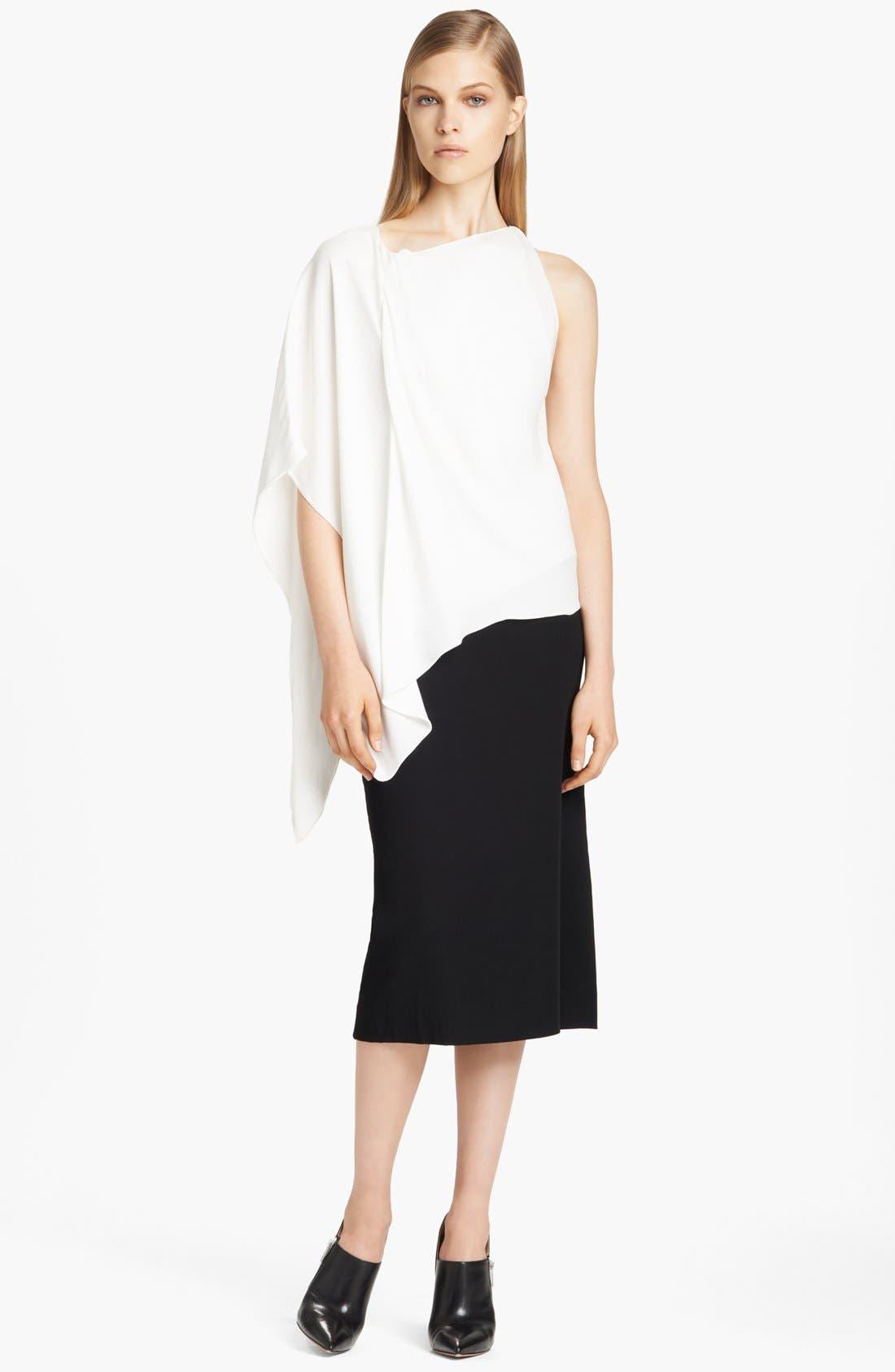 Alternate Image 3  - Donna Karan Collection Asymmetrical Matte Crepe Blouse
