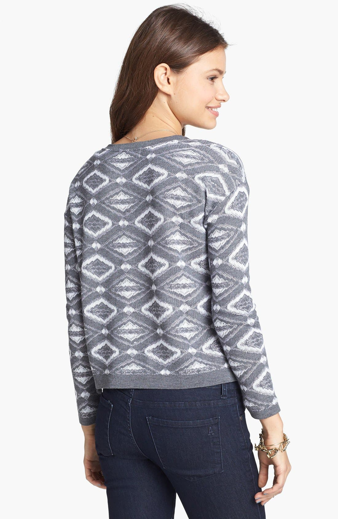 Alternate Image 2  - Cotton Emporium Geometric Sweater (Juniors)