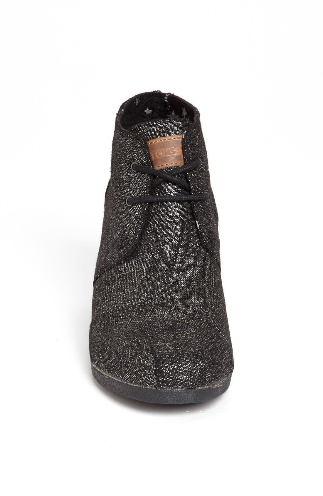 Alternate Image 3  - TOMS 'Desert' Metallic Linen Bootie (Women)