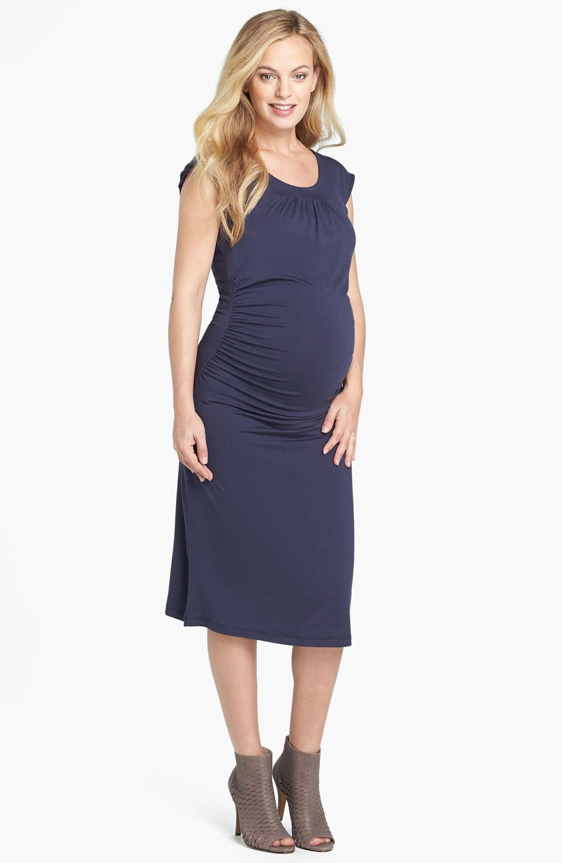 Alternate Image 1 Selected - Nom Maternity 'Sophie' Ruched Maternity Dress