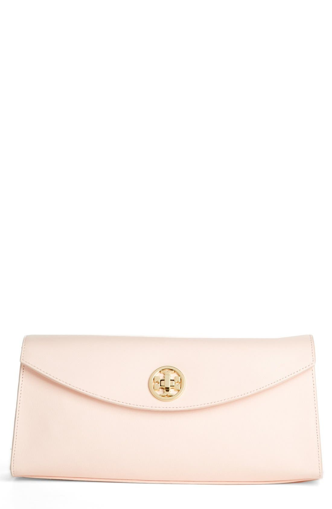 Main Image - Tory Burch 'Austin' Saffiano Leather Flap Clutch