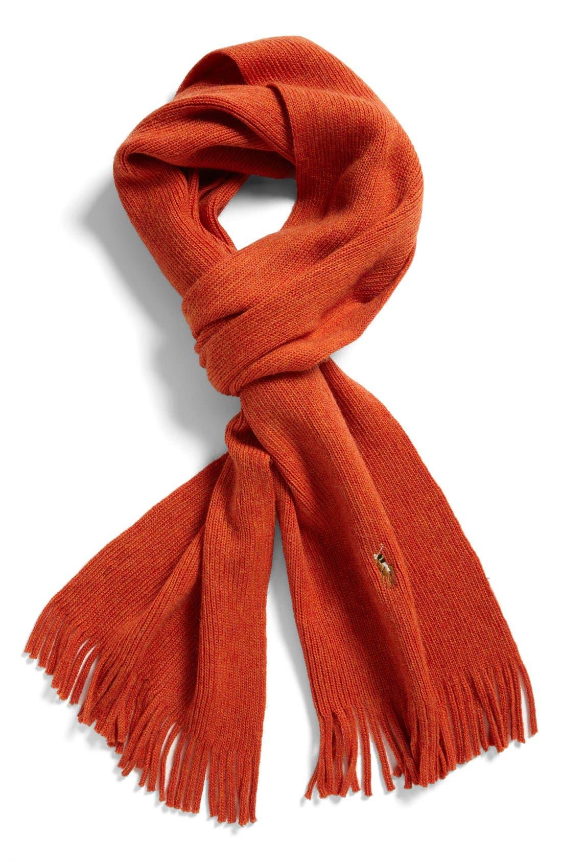 Alternate Image 1 Selected - Polo Ralph Lauren Merino Wool Scarf