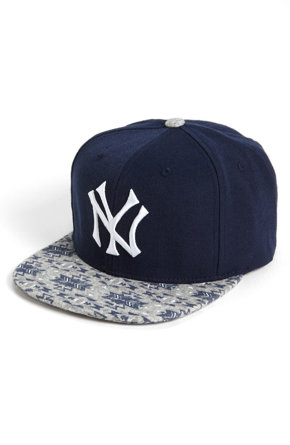 Alternate Image 1 Selected - American Needle 'New York Yankees Print Bill' Baseball Cap