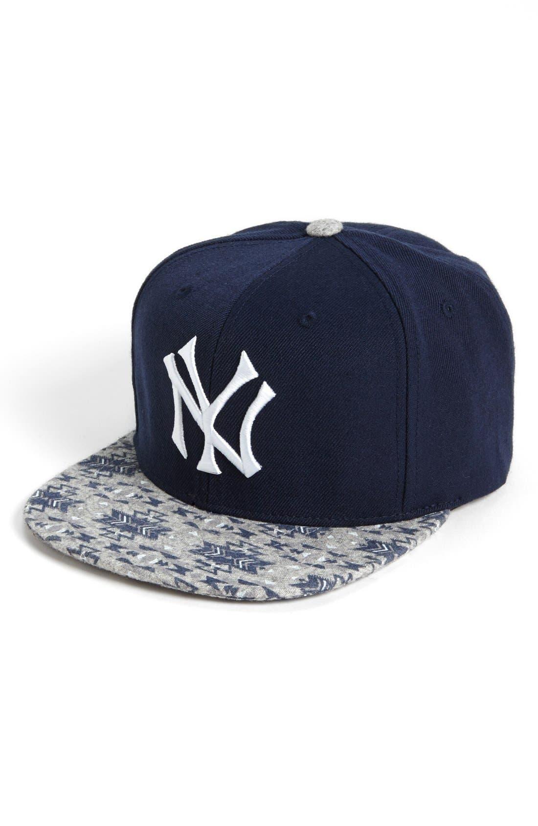 Main Image - American Needle 'New York Yankees Print Bill' Baseball Cap