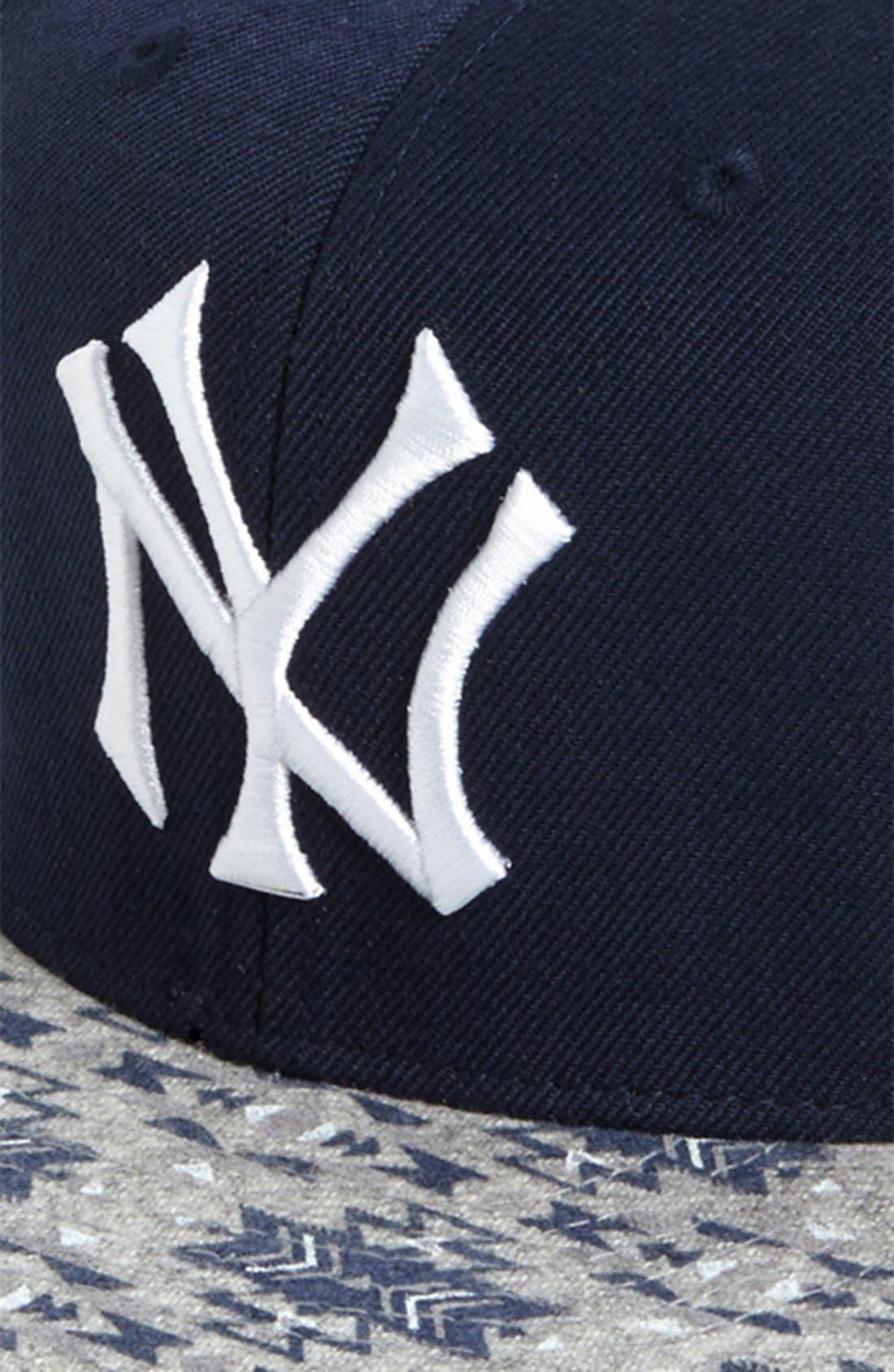 Alternate Image 3  - American Needle 'New York Yankees Print Bill' Baseball Cap