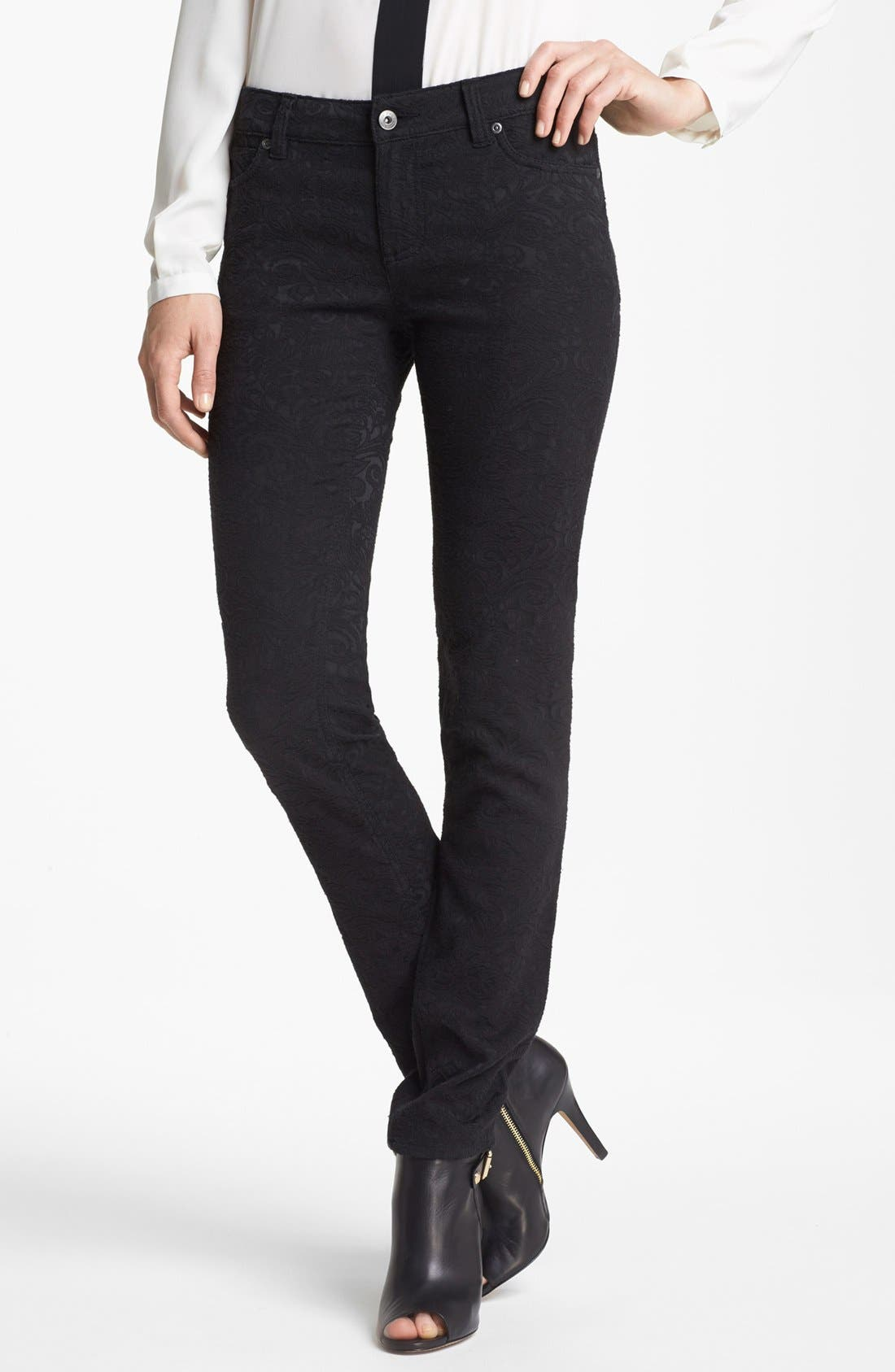 Main Image - Two by Vince Camuto Tonal Jacquard Jeans