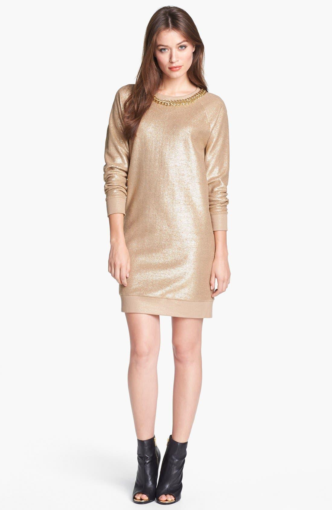 Main Image - MICHAEL Michael Kors Foiled Cotton Terry Dress