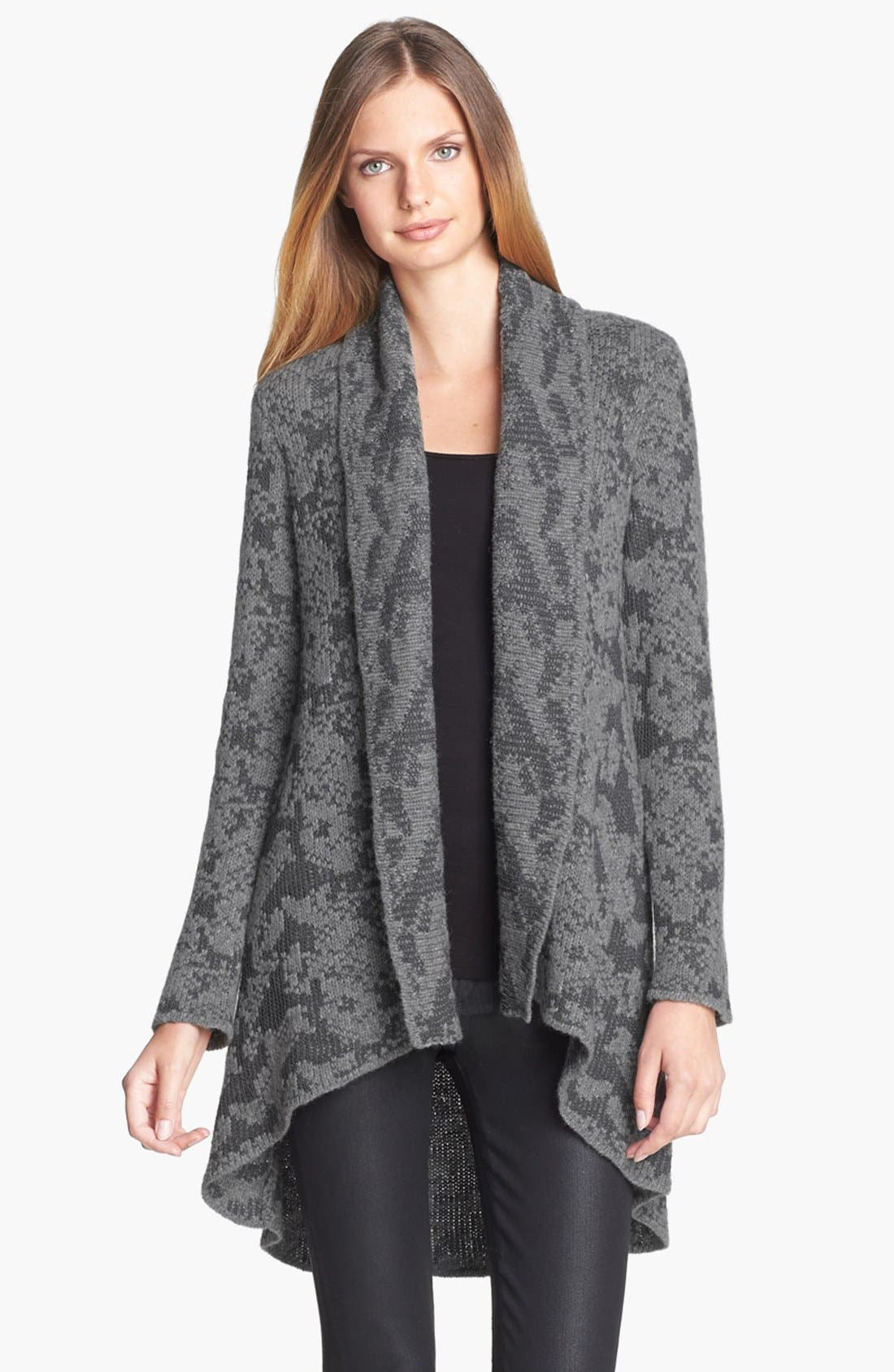 Alternate Image 1 Selected - Eileen Fisher Open Front Shawl Collar Cardigan