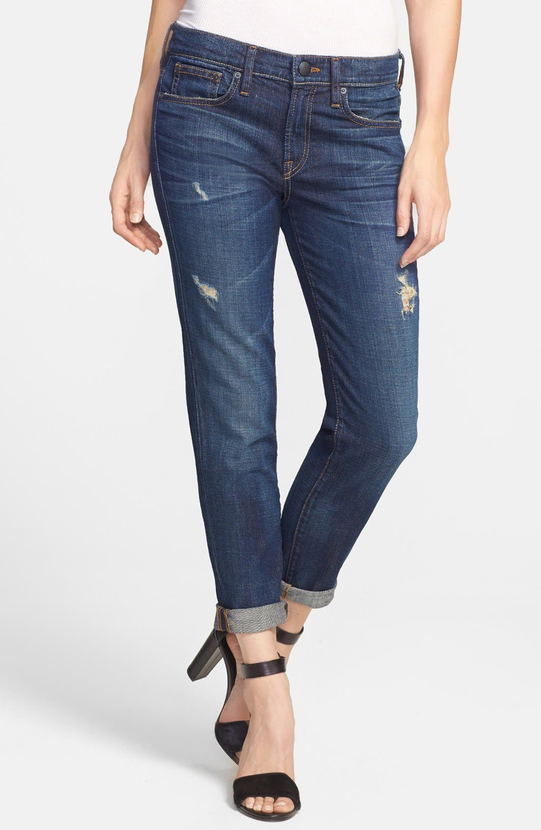 Alternate Image 1 Selected - Vince Relaxed Rolled Jeans (New Vintage)