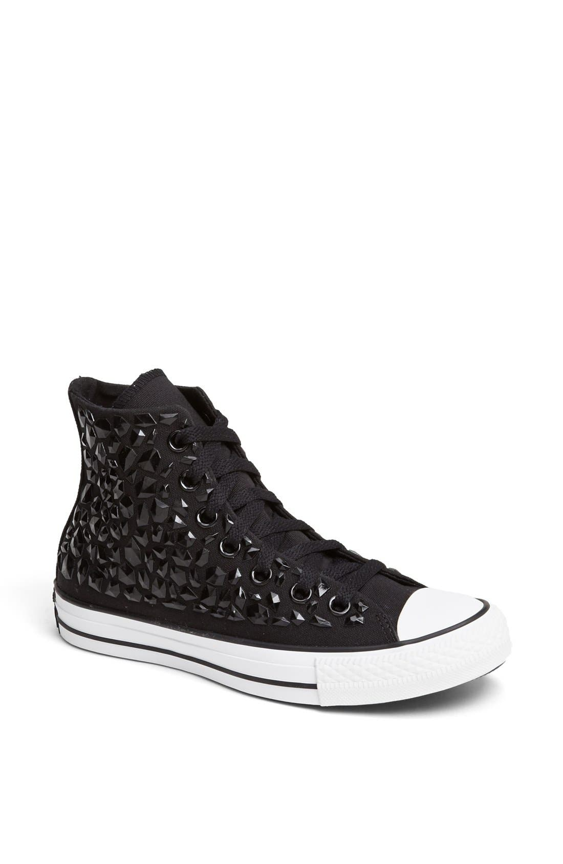 Alternate Image 1 Selected - Converse Chuck Taylor® All Star® 'Rhinestone' High Top Sneaker (Women)