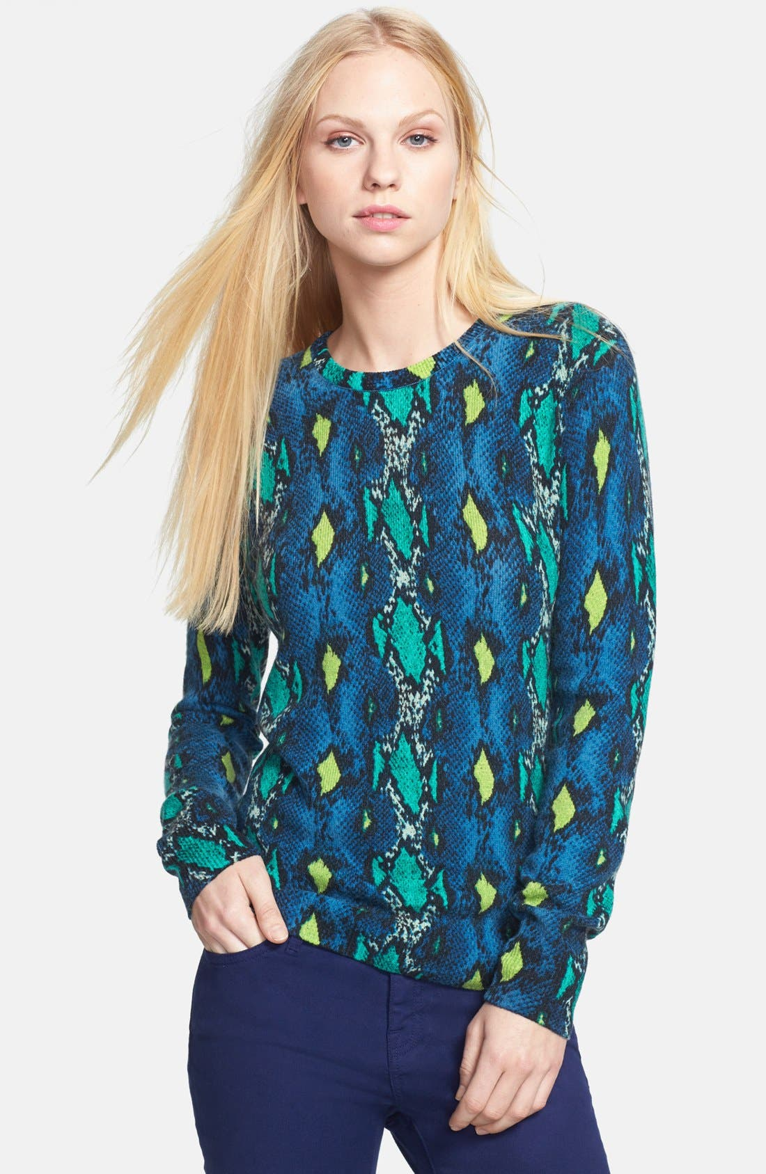 Alternate Image 1 Selected - Equipment 'Sloane' Snake Pattern Cashmere Sweater