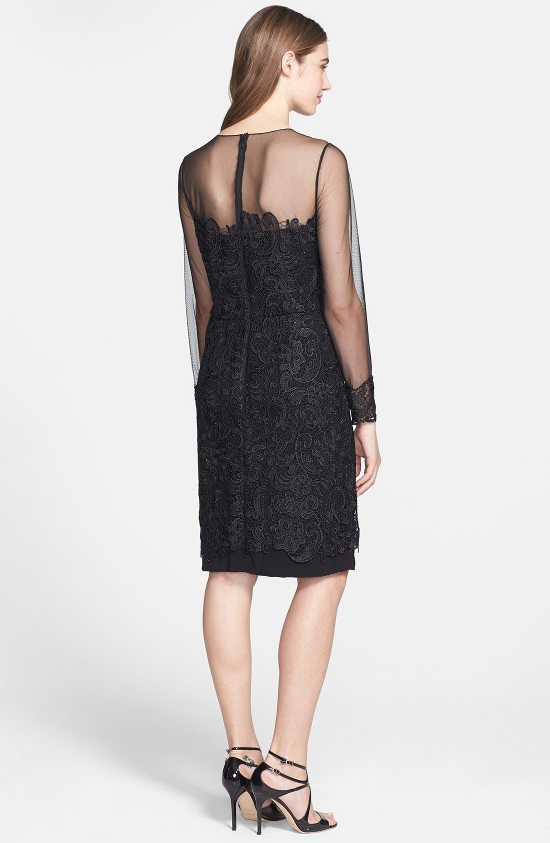 Alternate Image 2  - Patra Illusion Yoke Lace Sheath Dress