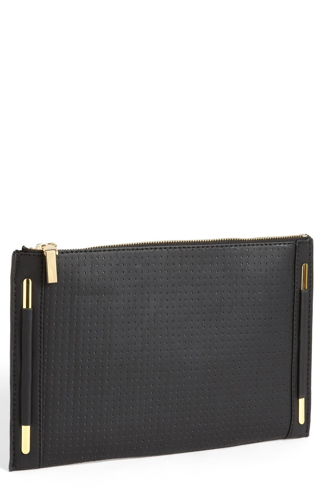 Main Image - French Connection Perforated Clutch