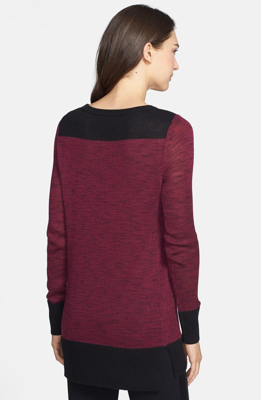 Alternate Image 2  - Halogen® Zip Pocket Tunic Sweater (Regular & Petite Focus)