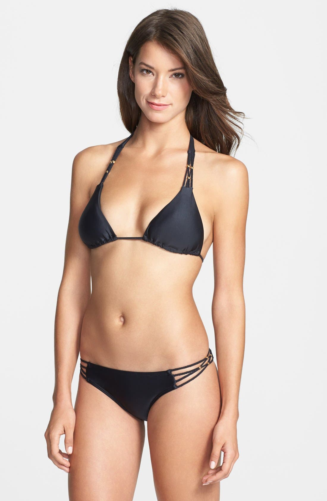 Alternate Image 3  - PilyQ 'Midnight Gold' Braided Bikini Bottoms