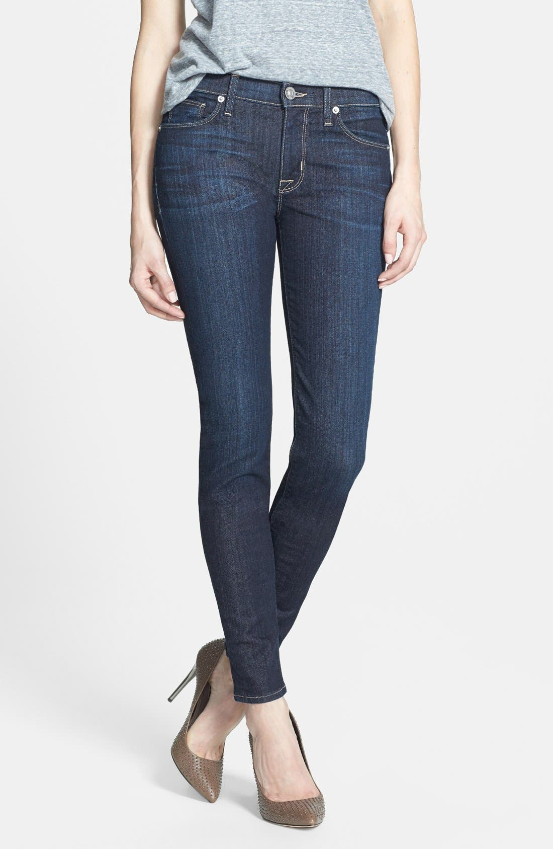 Alternate Image 1 Selected - Hudson Jeans 'Collette' Mid Rise Skinny Jeans (Skyline)