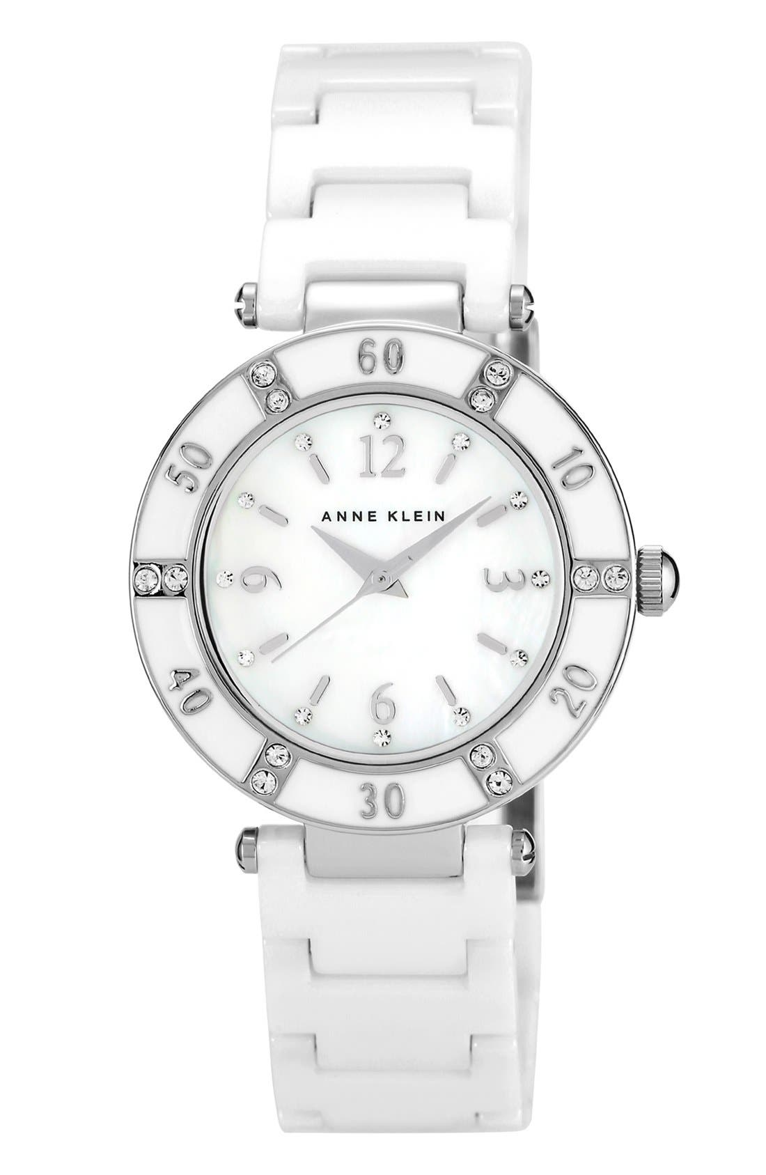 Alternate Image 1 Selected - Anne Klein Round Ceramic Bracelet Watch