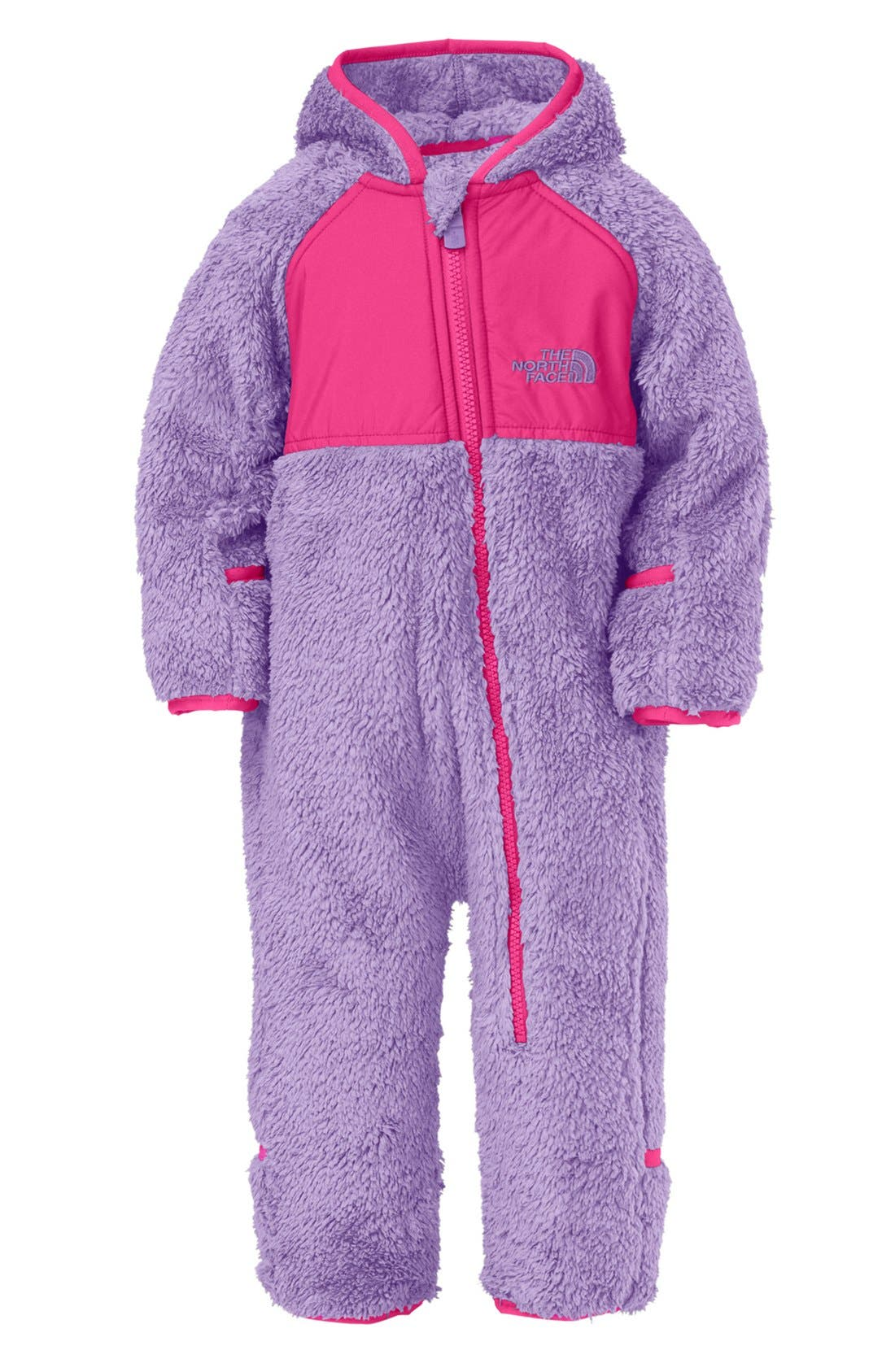 Alternate Image 1 Selected - The North Face 'Plushee' Fleece Bunting (Baby Girls)