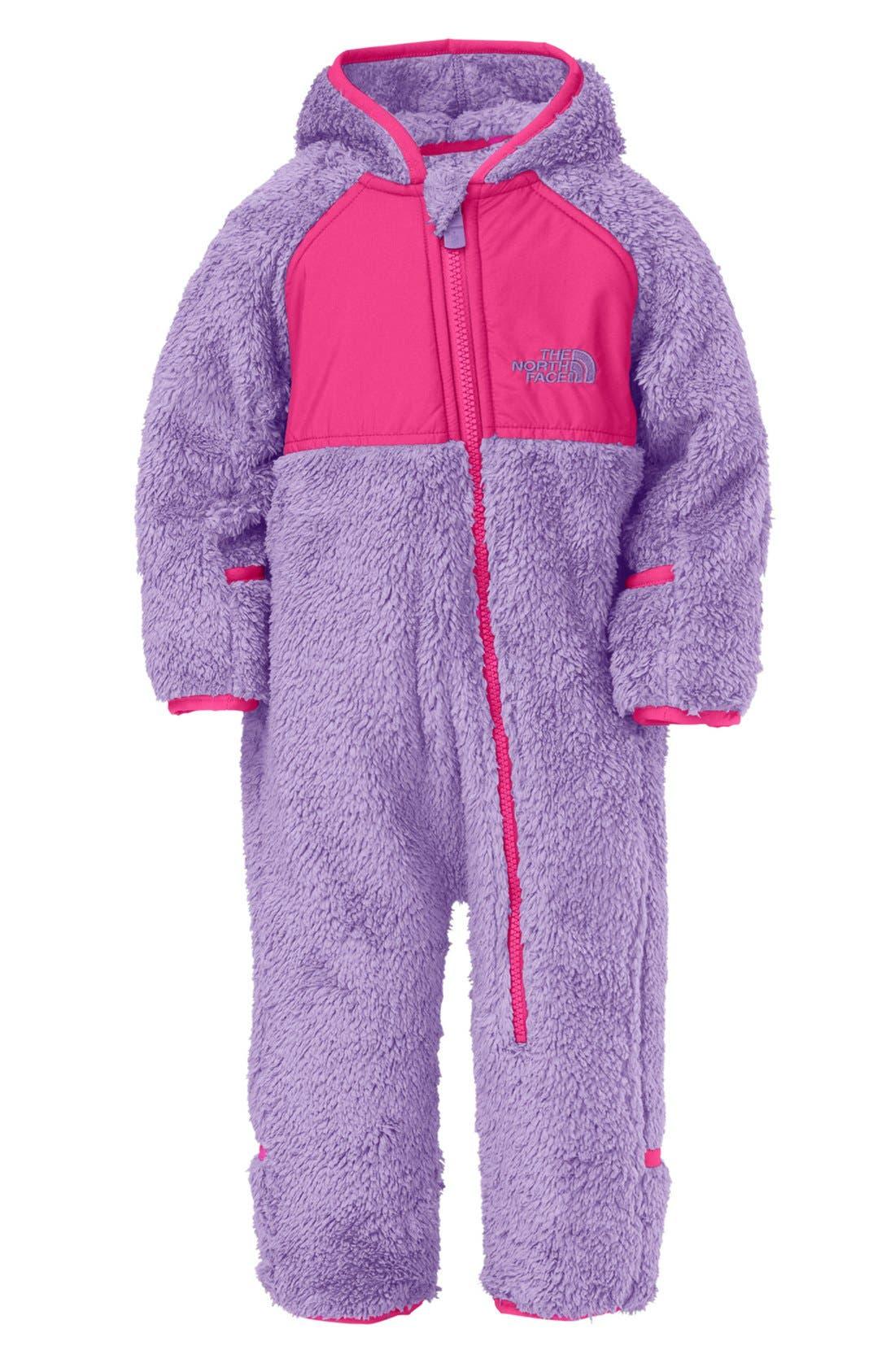 Main Image - The North Face 'Plushee' Fleece Bunting (Baby Girls)