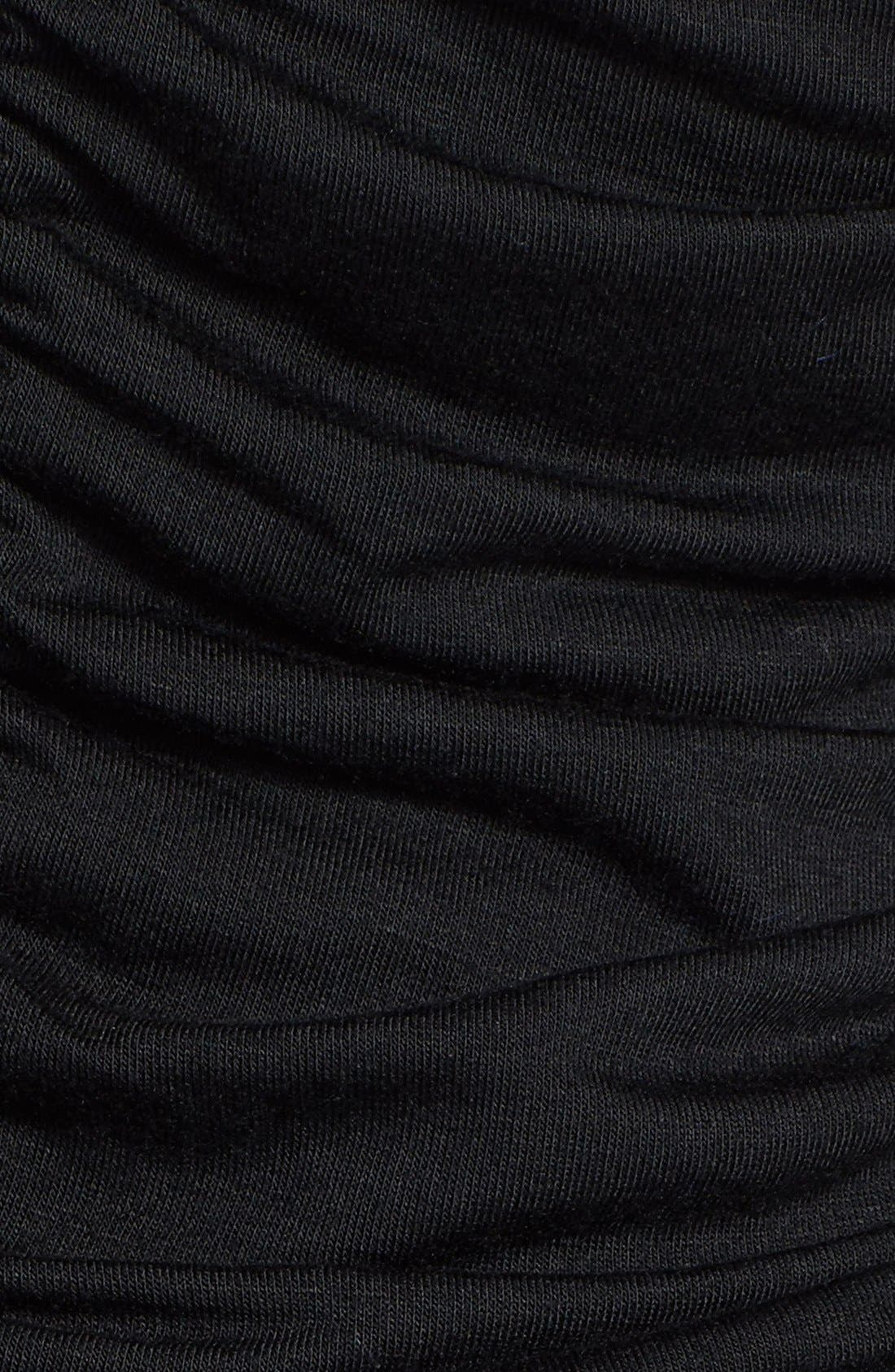 Alternate Image 3  - Loveappella Shirred Strapless Maxi Dress (Petite)