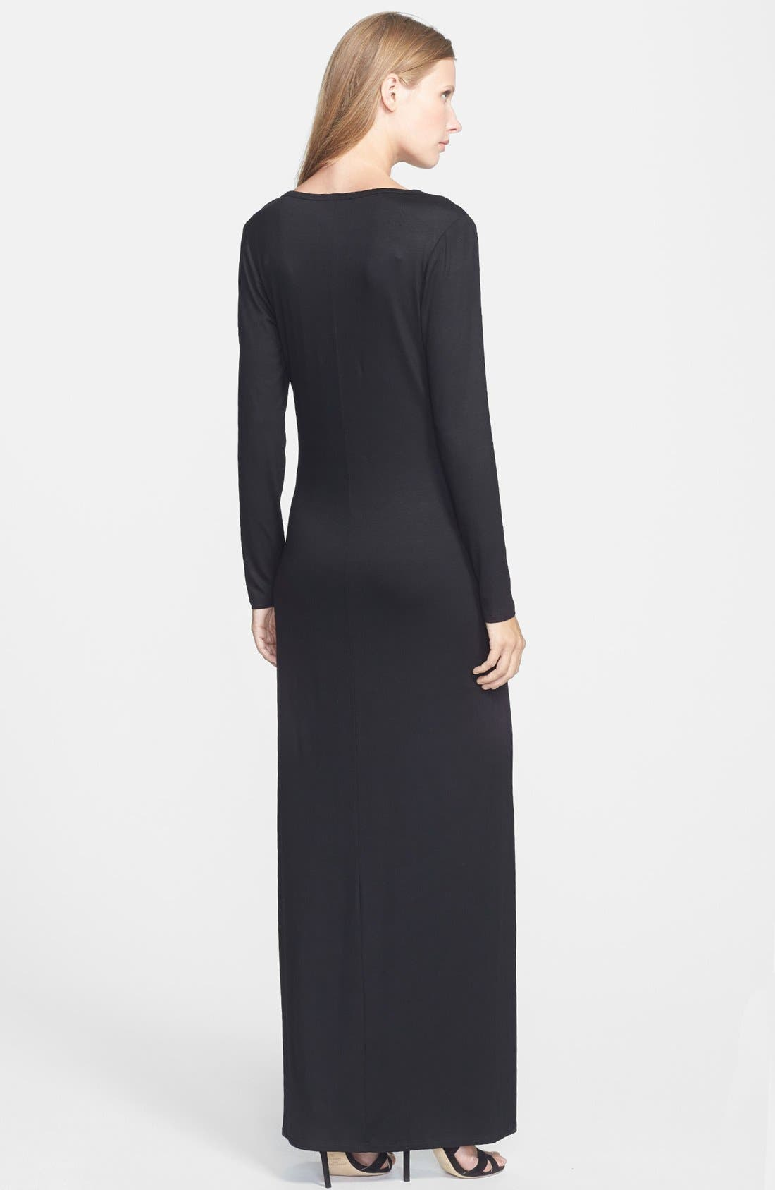 Alternate Image 2  - Trina Turk 'Alani' Long Sleeve Jersey Maxi Dress