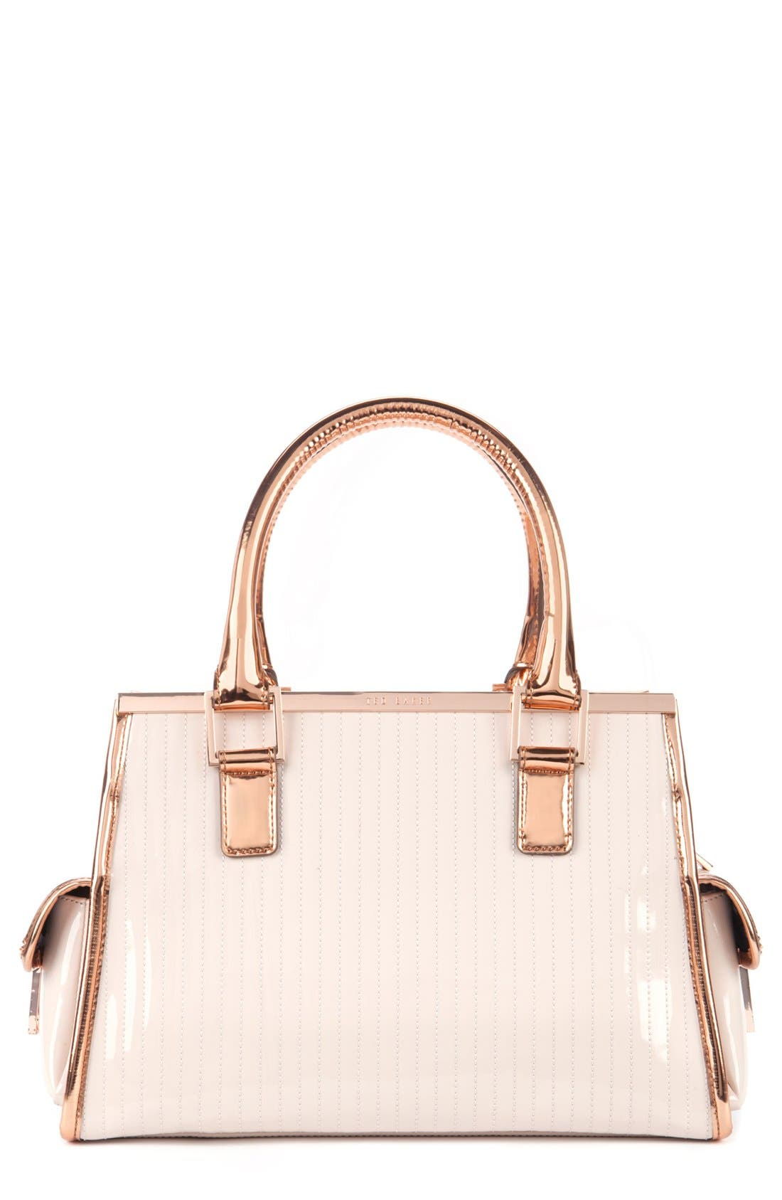 Main Image - Ted Baker London Quilted Patent Leather Tote