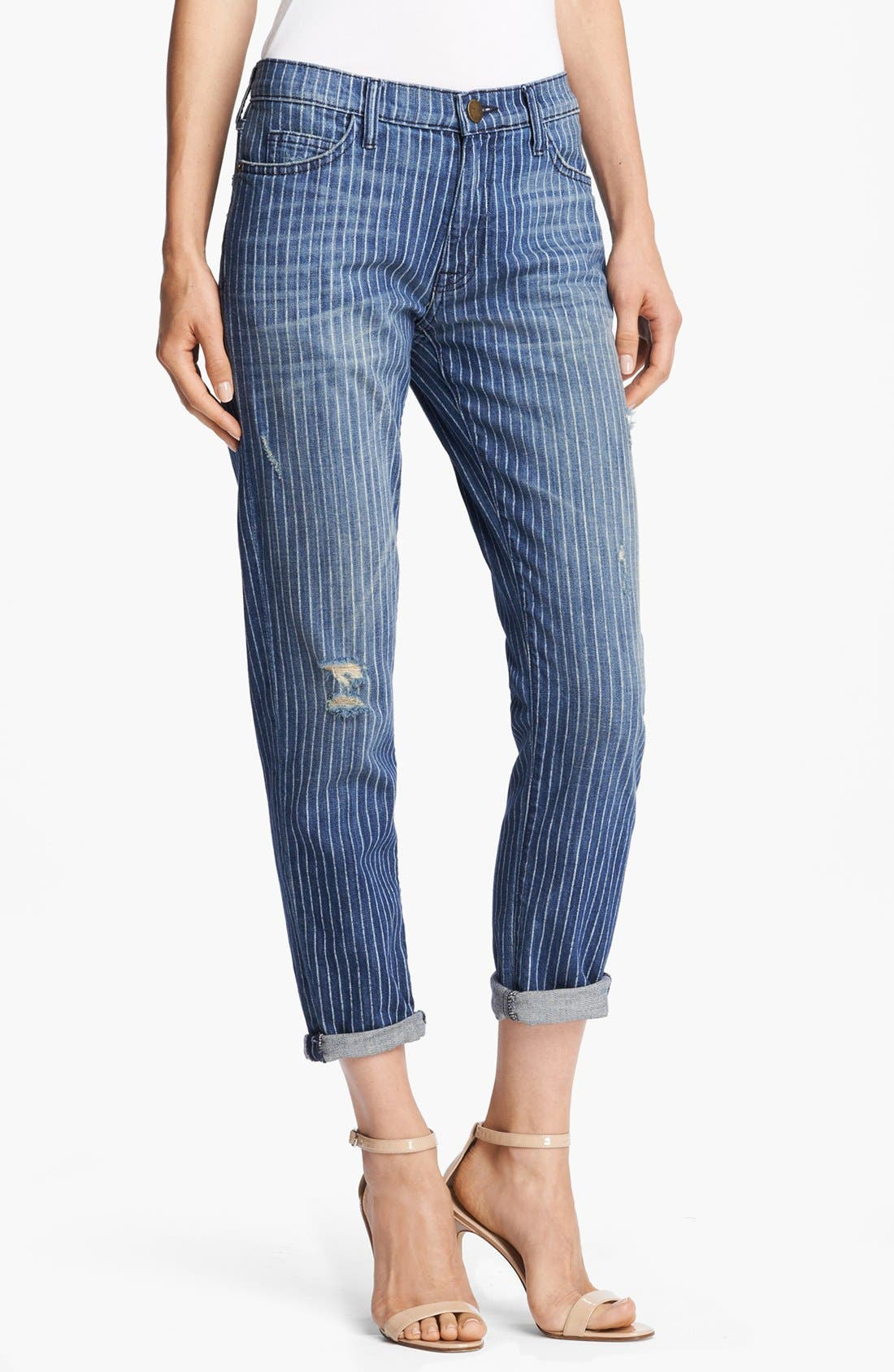 Main Image - Current/Elliott 'The Fling' Pinstripe Jeans