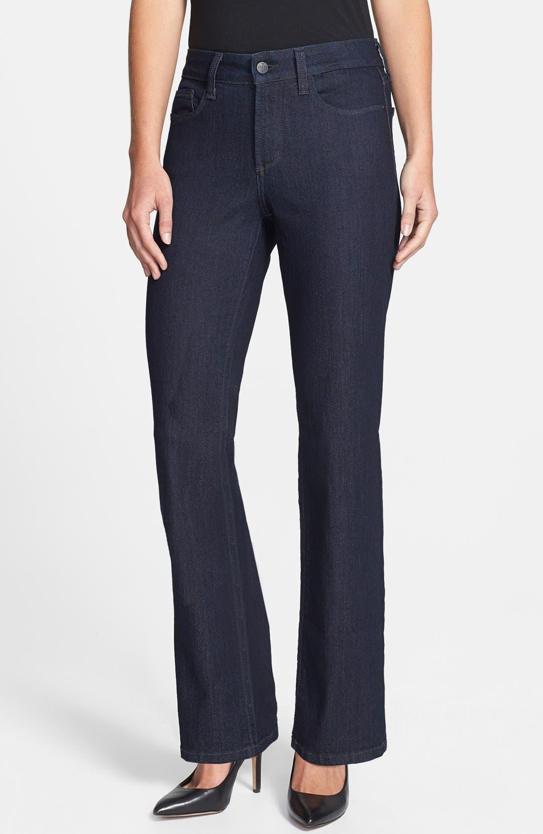 Alternate Image 1 Selected - NYDJ 'Marilyn' Straight Leg Jeans (Dark Enzyme) (Petite)