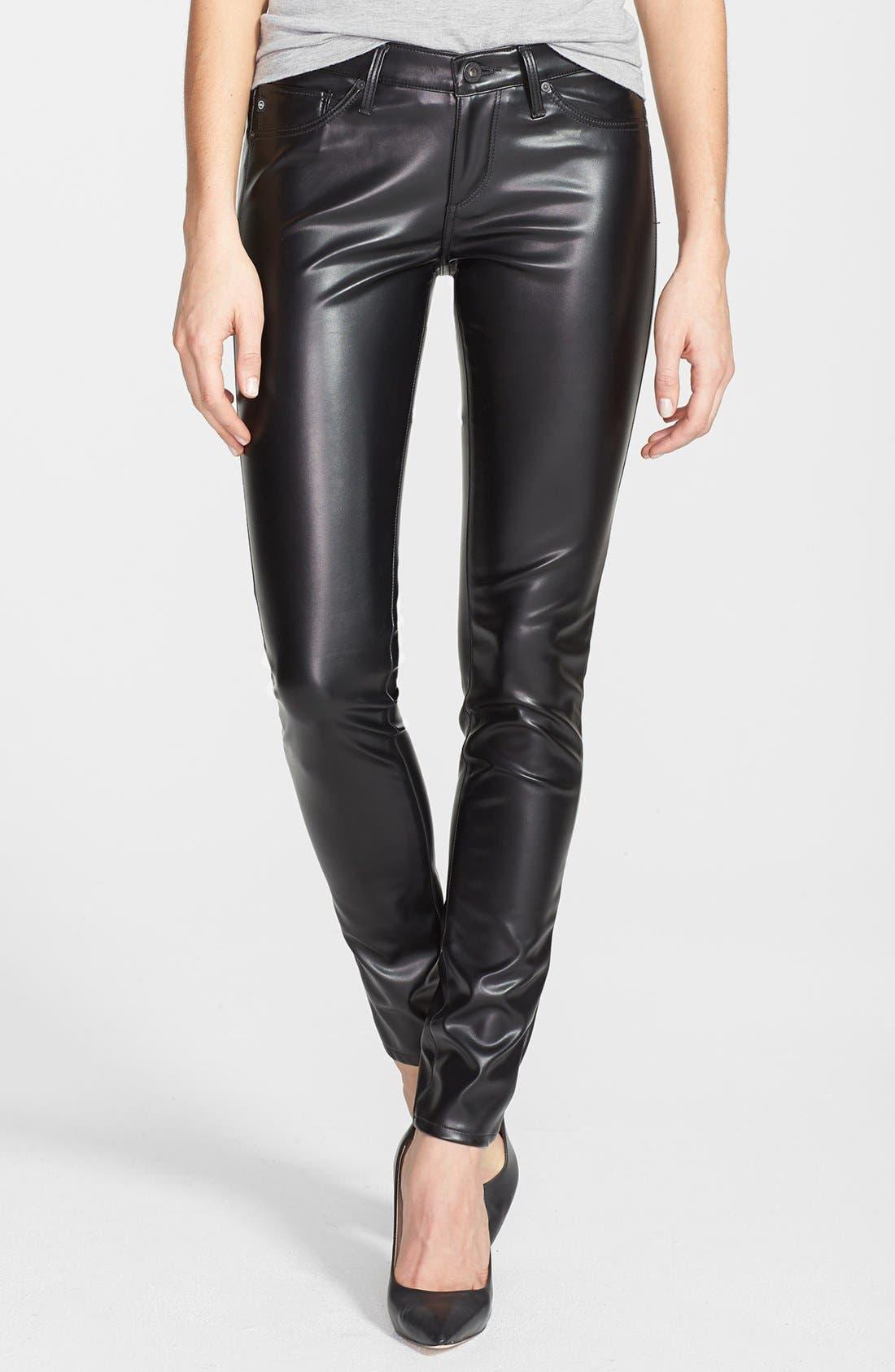 Main Image - AG 'The Legging' Skinny Faux Leather Pants