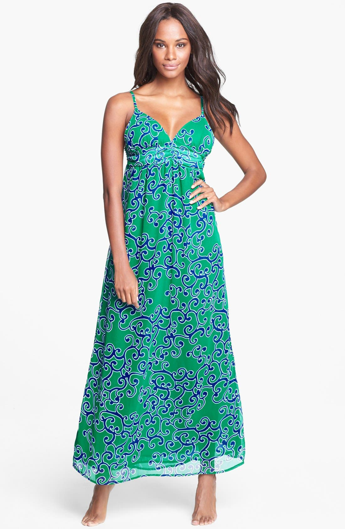 Alternate Image 1 Selected - Tommy Bahama 'Ocean Swirl' Cover-Up Maxi Dress