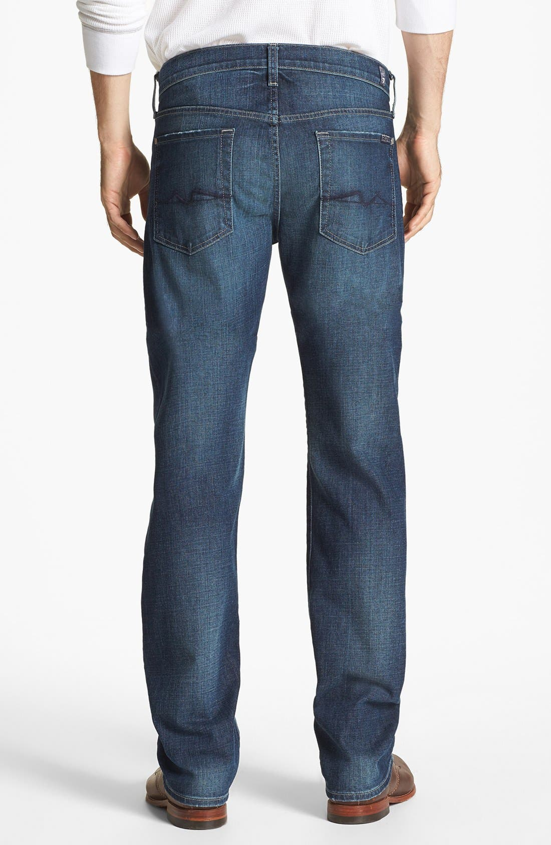 Alternate Image 2  - 7 For All Mankind® 'Standard' Straight Leg Jeans (Deep Creek)