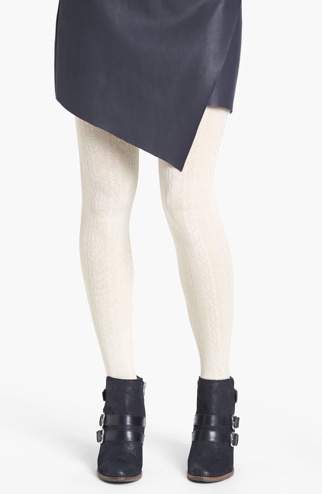 Alternate Image 1 Selected - BP. Textured Sweater Tights (Juniors)