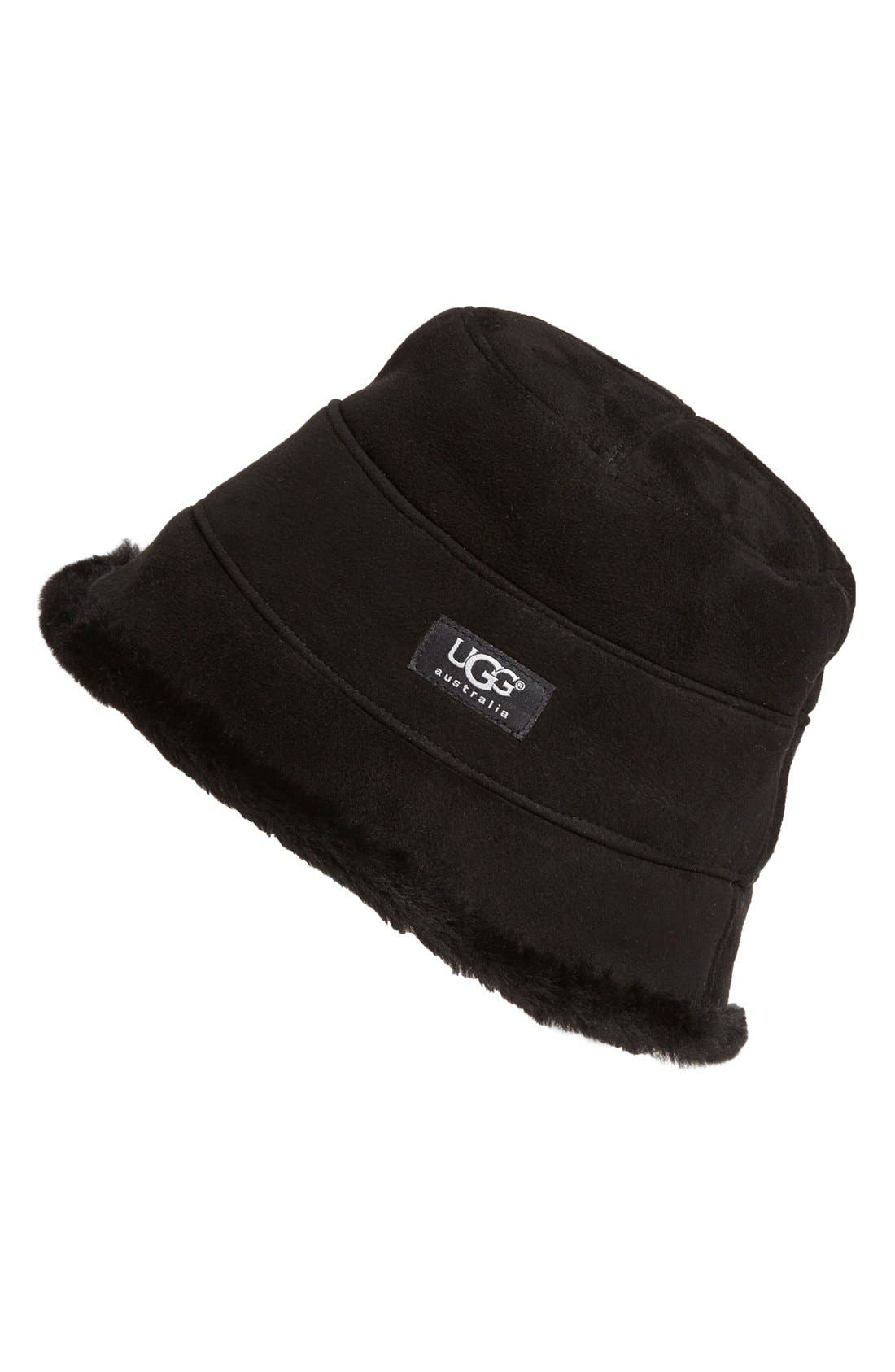 Alternate Image 1 Selected - UGG® Australia 'City' Genuine Shearling Bucket Hat