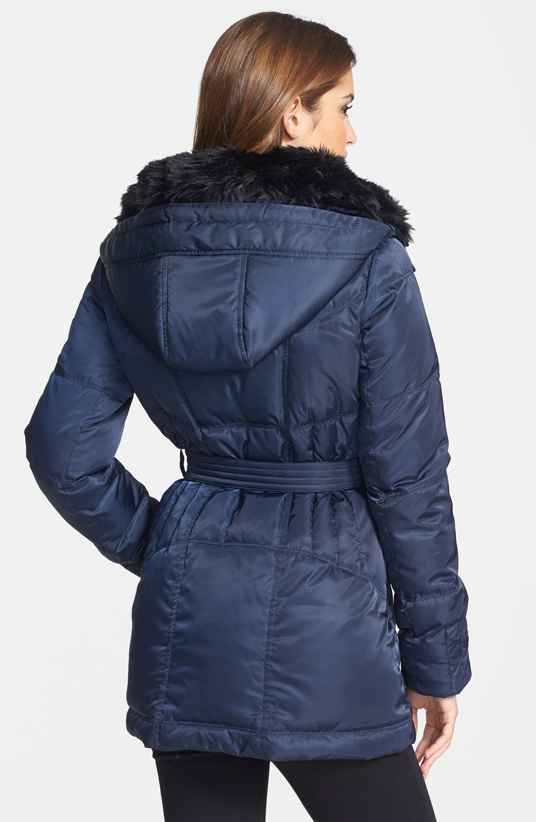 Alternate Image 2  - Vince Camuto Faux Fur Collar Down & Feather Parka