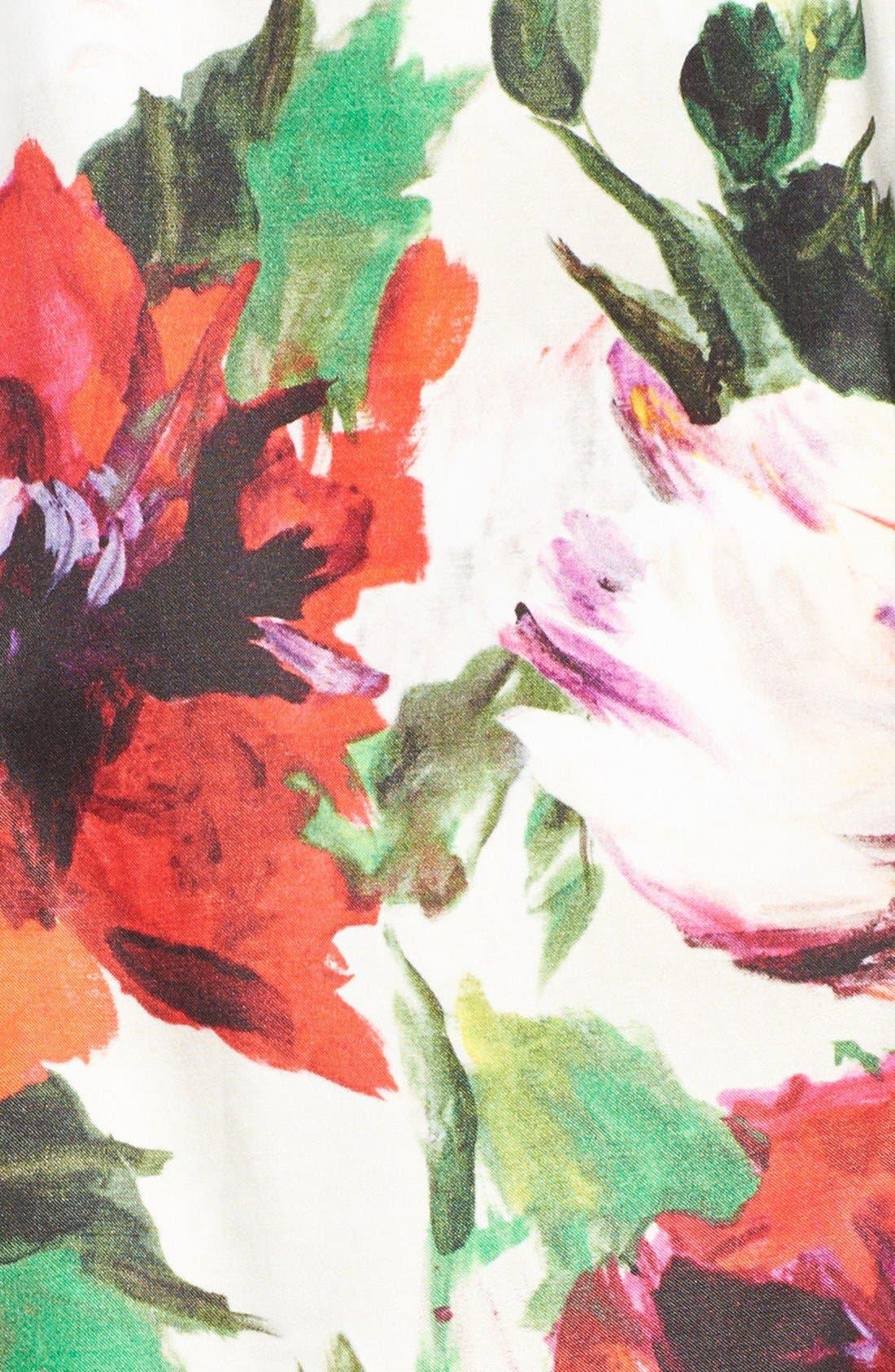 Alternate Image 3  - Milly Paneled Silk Party Dress