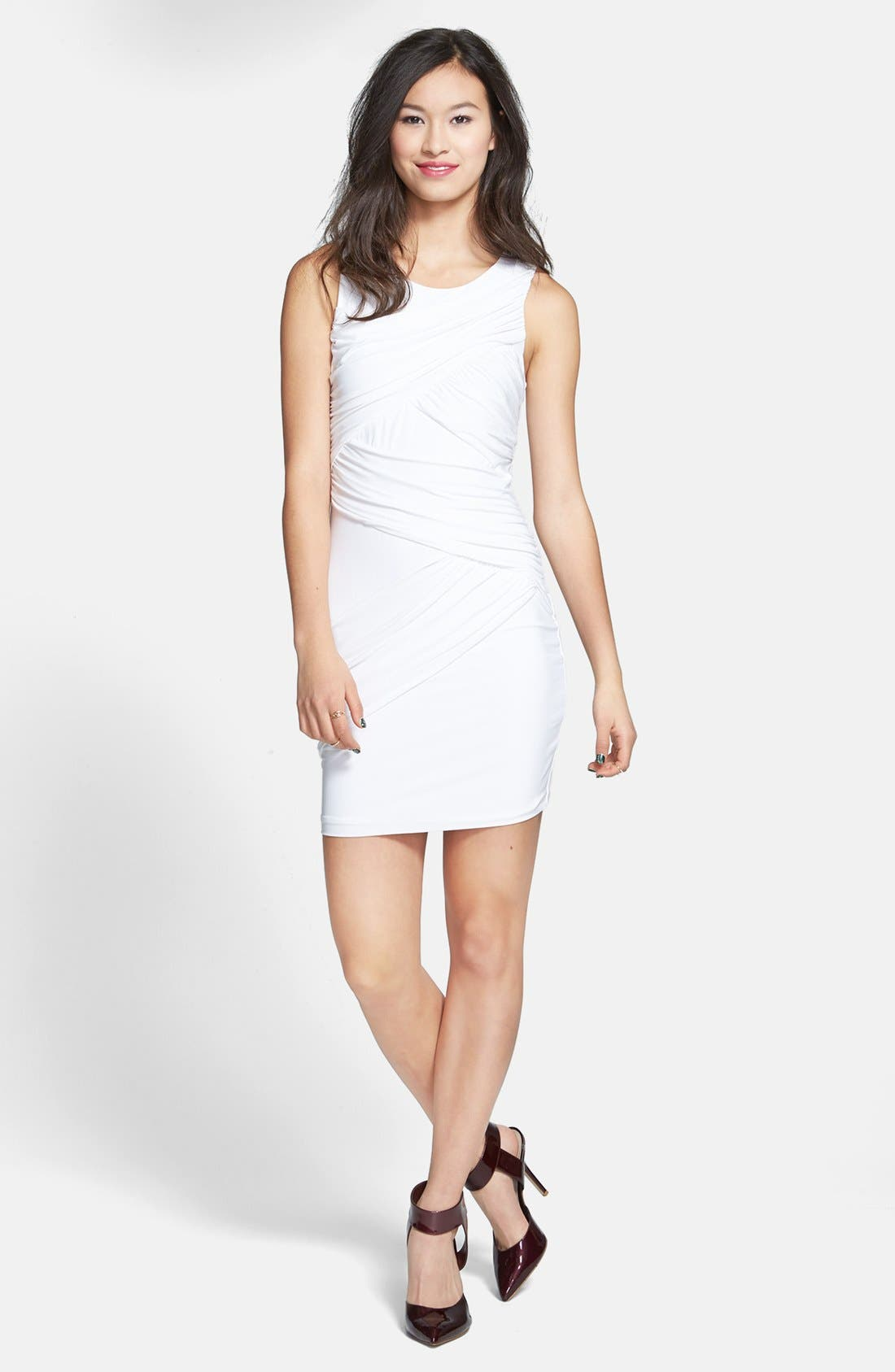Main Image - Soprano Ruched Body-Con Dress (Juniors)