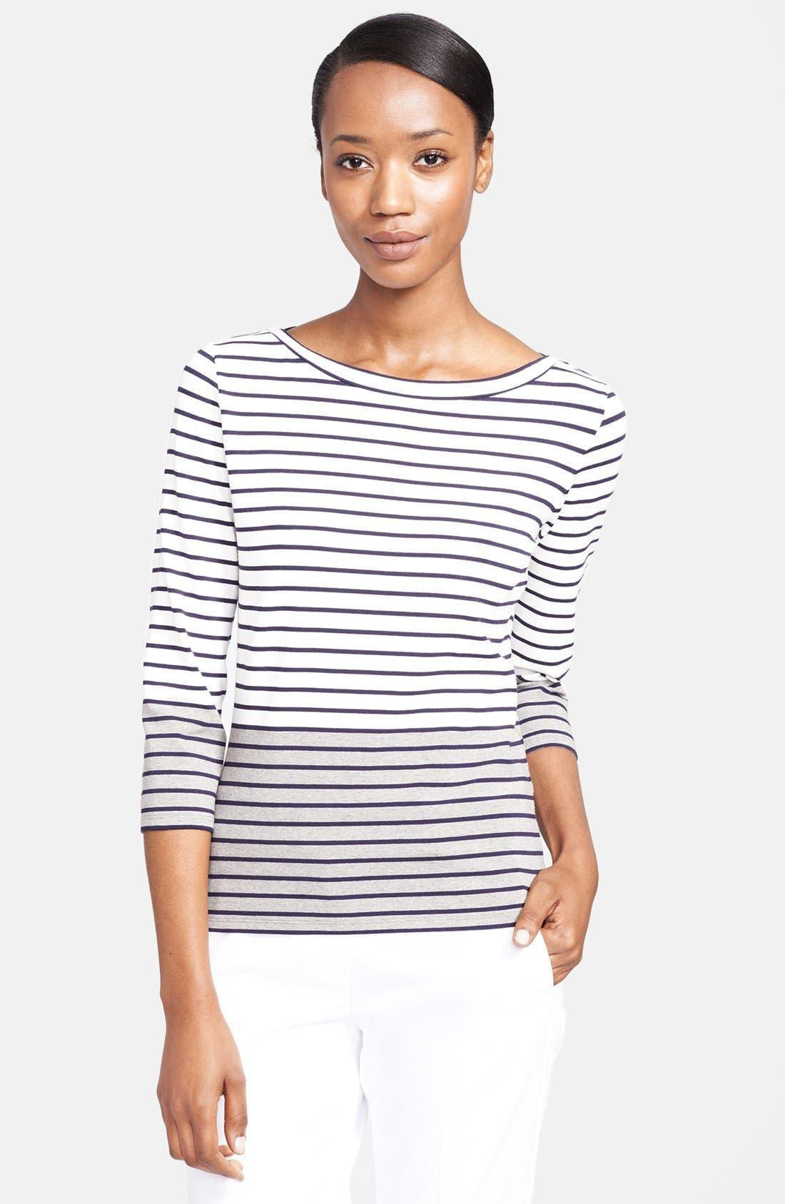 Main Image - Max Mara 'Minetta' Stripe Jersey Top