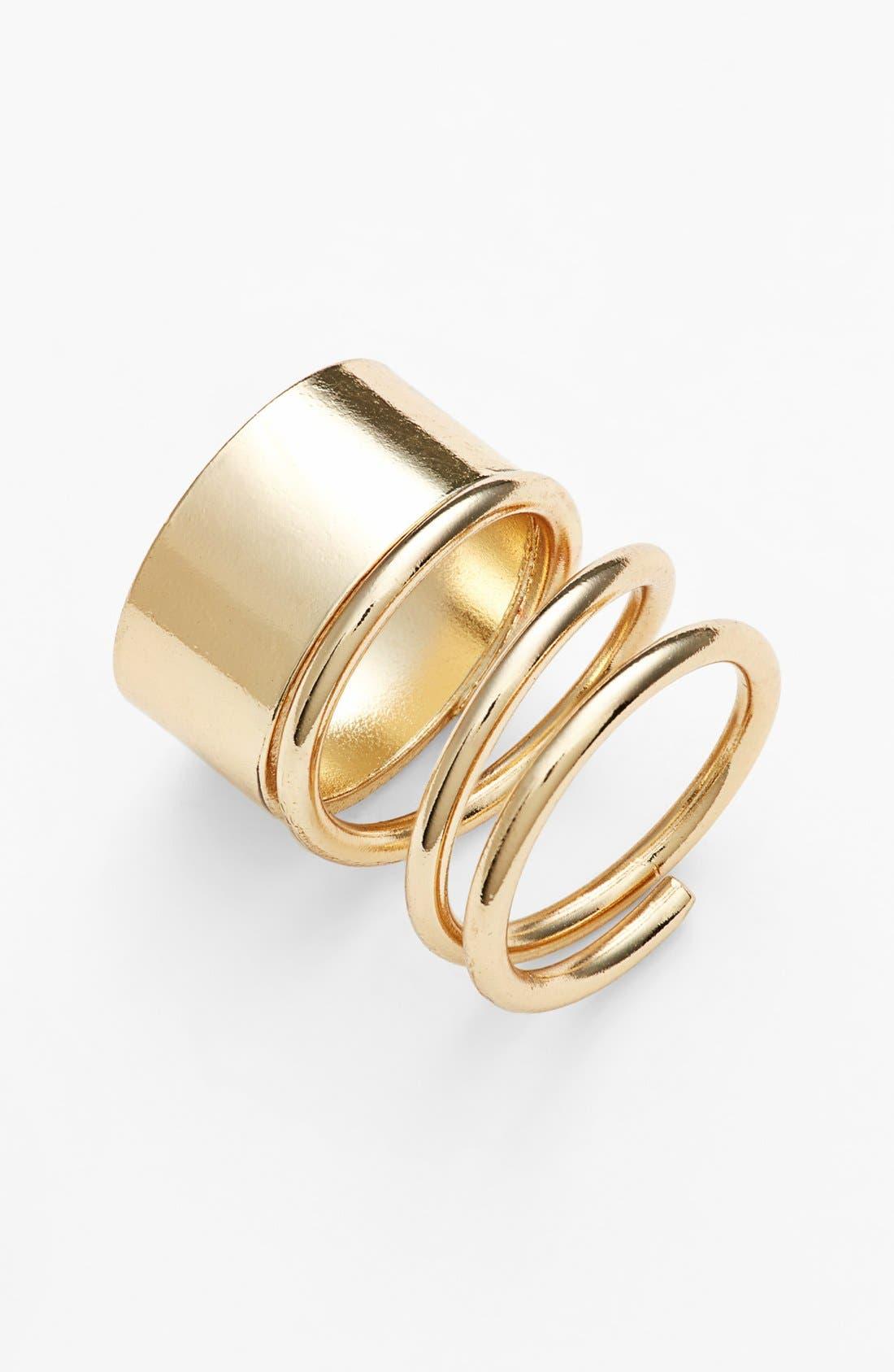 Alternate Image 1 Selected - BP. Asymmetric Wrap Midi Ring (Juniors)