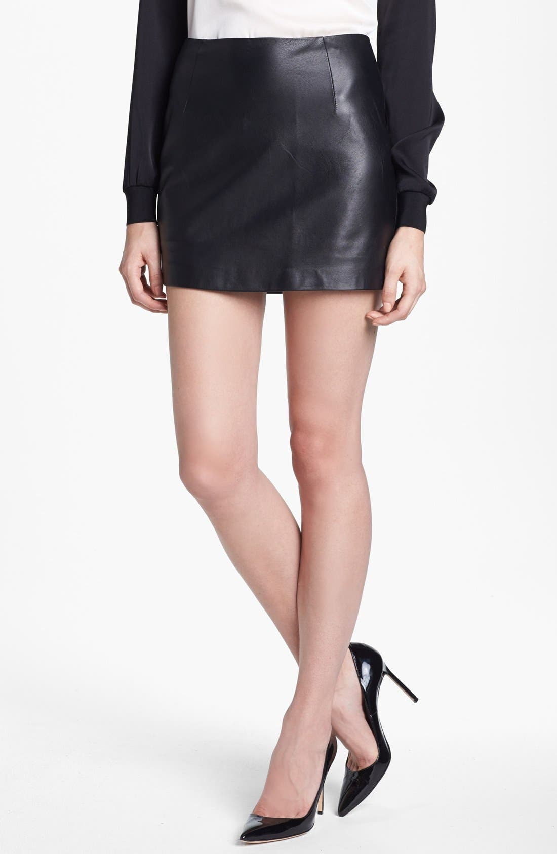 Alternate Image 1 Selected - Trina Turk 'Phaedra' Leather Miniskirt