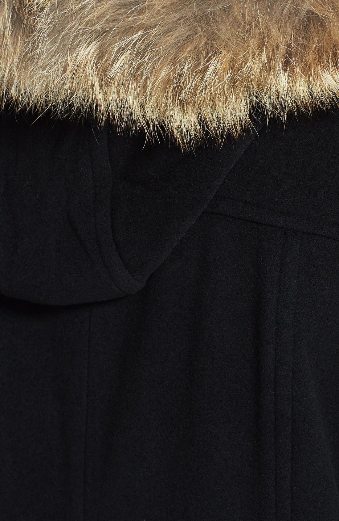 Alternate Image 4  - Marc New York by Andrew Marc 'Harley' Genuine Coyote Fur Trim Duffle Coat (Plus Size)