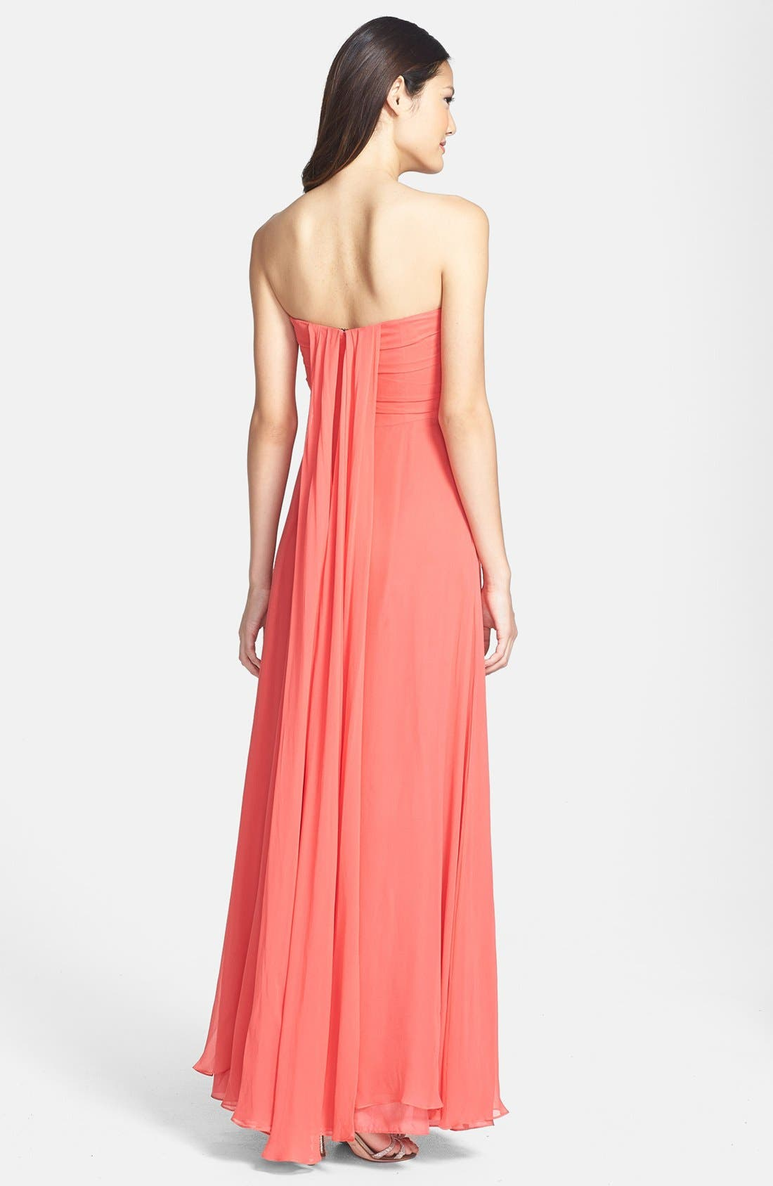 Alternate Image 2  - Jill Jill Stuart Pleat Chiffon Gown