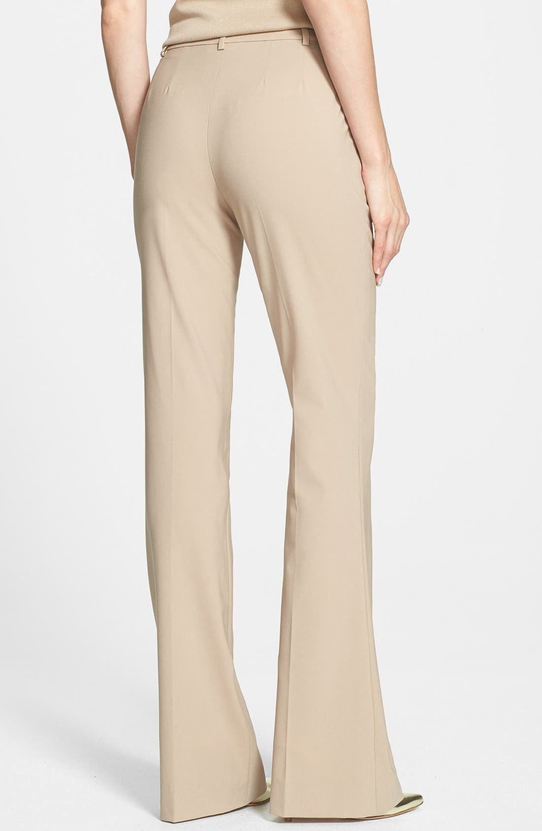Alternate Image 2  - St. John Collection 'Annabel' Narrow Bootcut Tropical Wool Pants