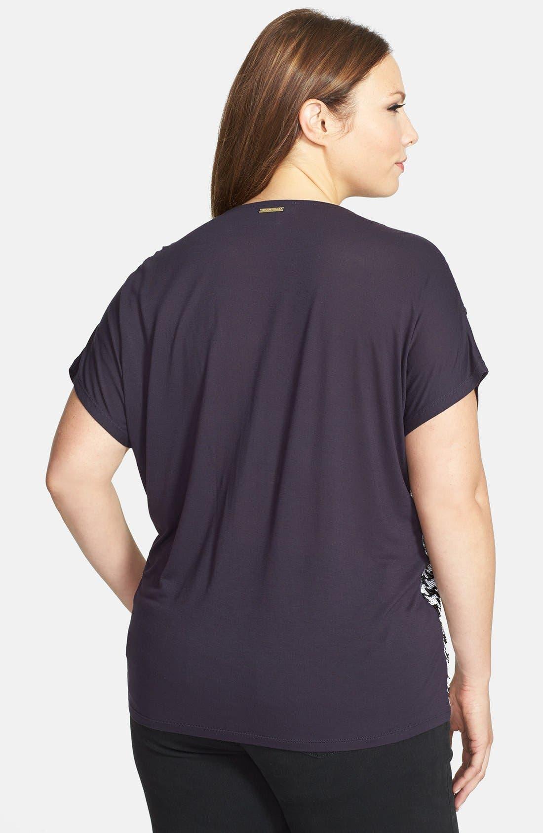 Alternate Image 2  - MICHAEL Michael Kors Sequin Top (Plus Size)