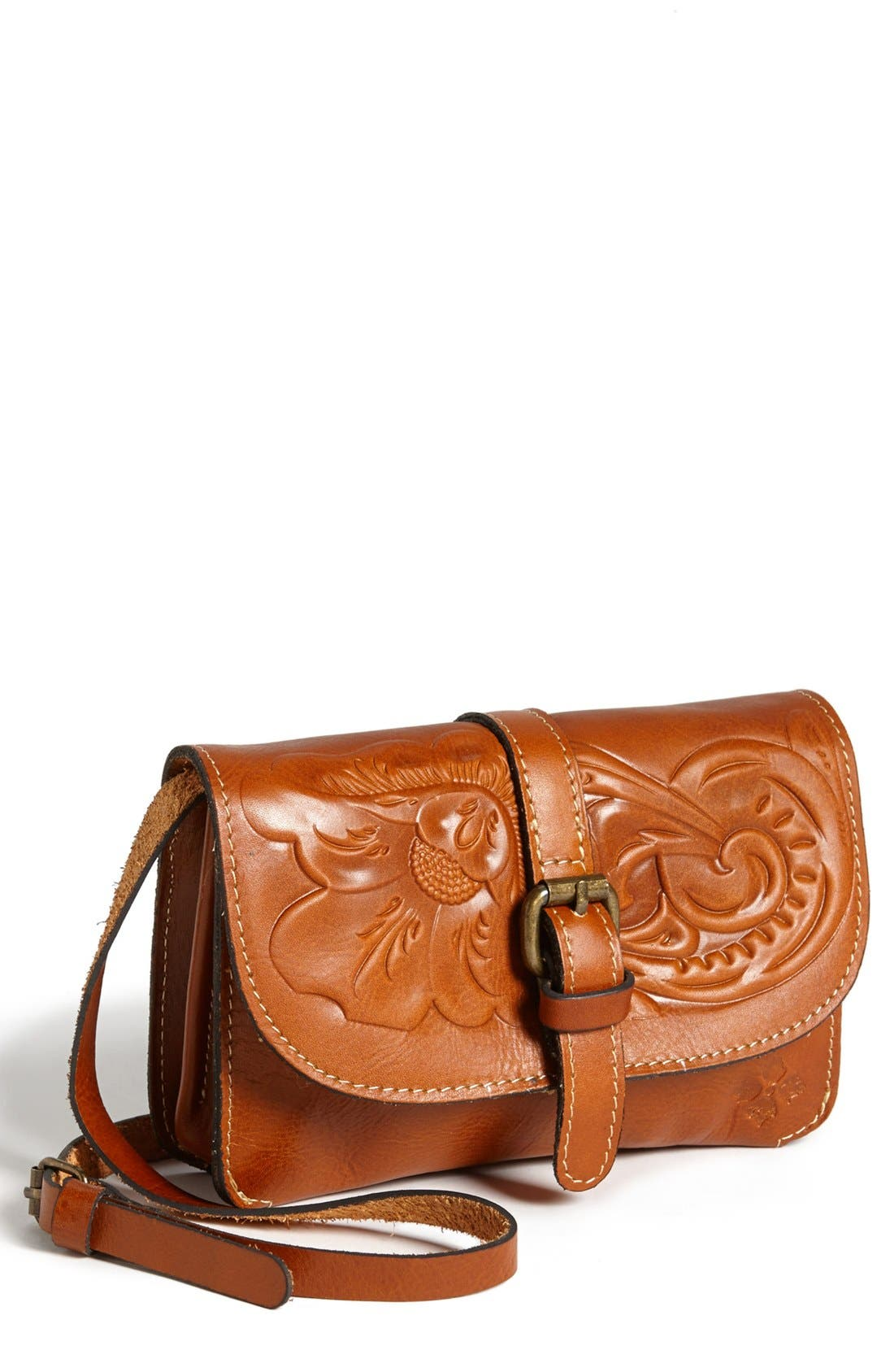 Alternate Image 1 Selected - Patricia Nash 'Torri' Embossed Leather Crossbody Bag