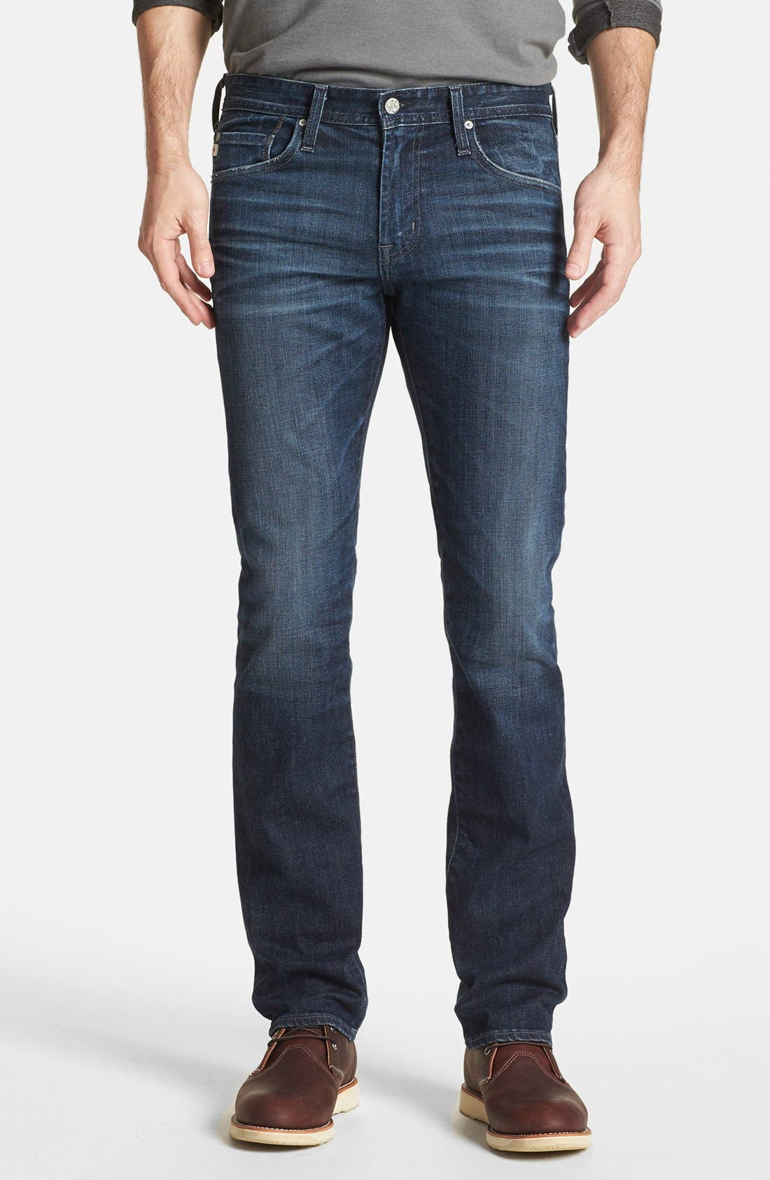 Alternate Image 1 Selected - AG 'Matchbox' Slim Fit Jeans (Six Years Cast)